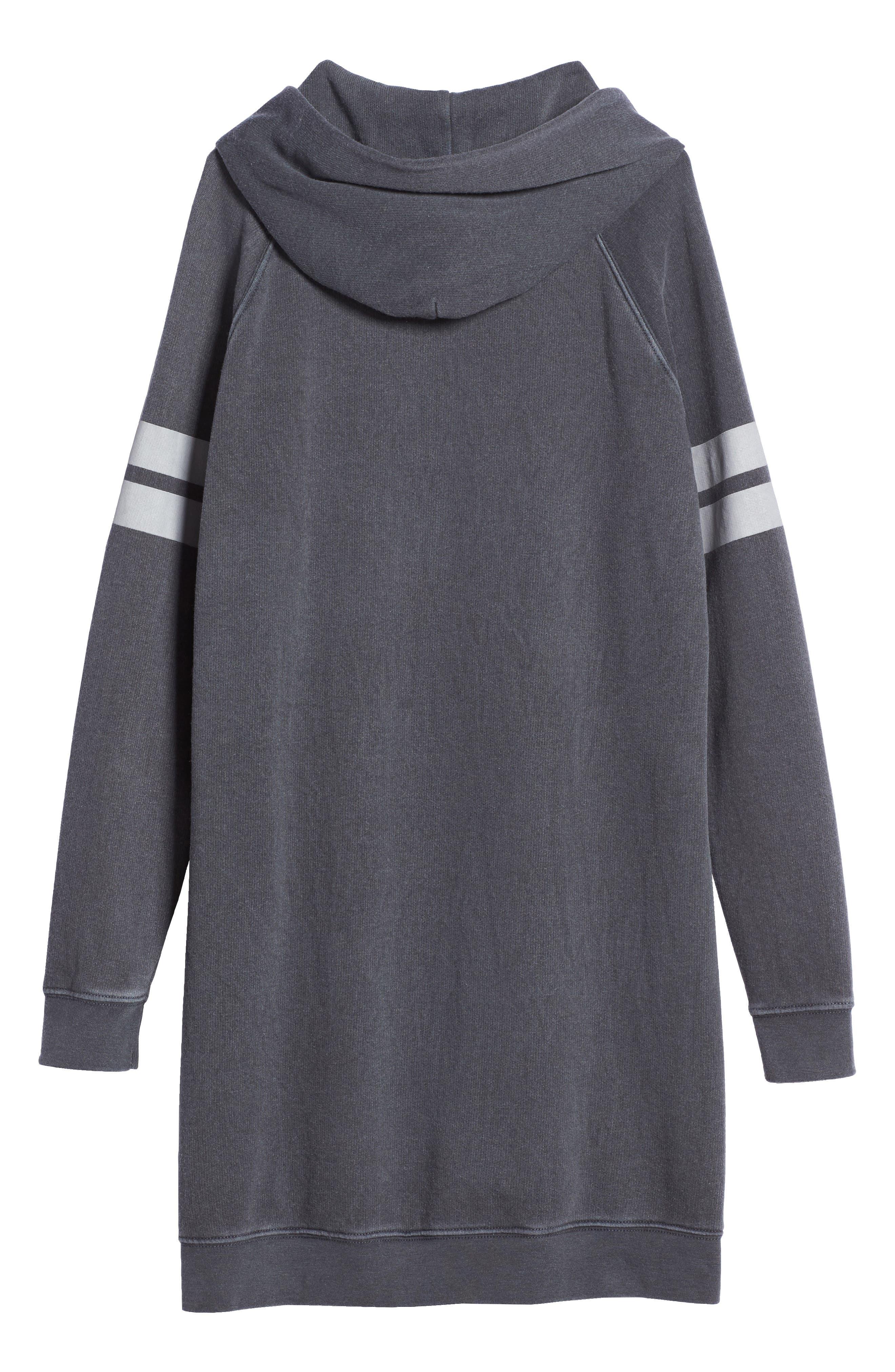 Hooded Fleece Sweatshirt Dress,                             Alternate thumbnail 2, color,                             030