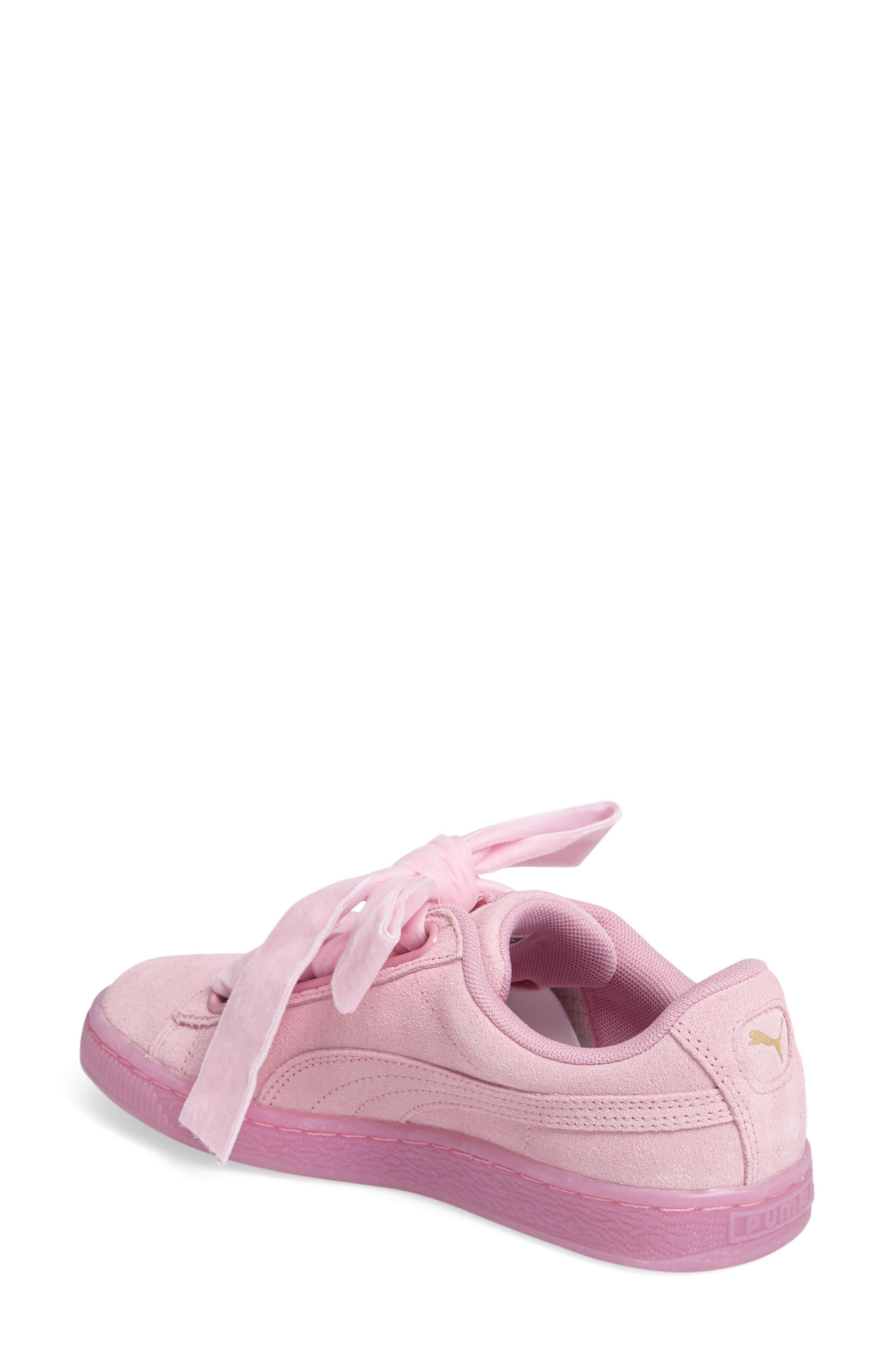 Suede - Heart Sneaker,                             Alternate thumbnail 16, color,