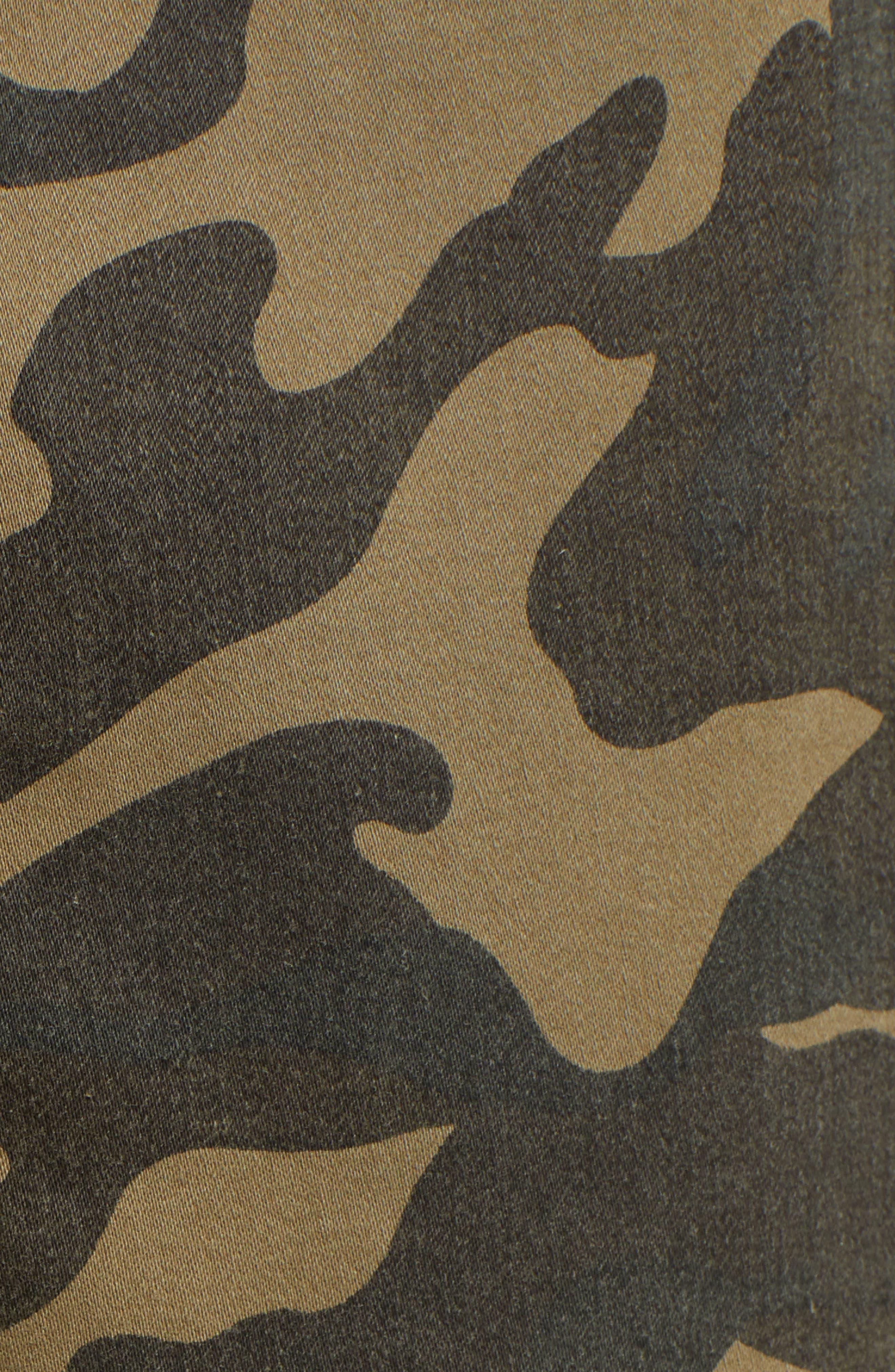 Camo Patch Pocket Jogger Stretch Cotton Pants,                             Alternate thumbnail 5, color,                             345