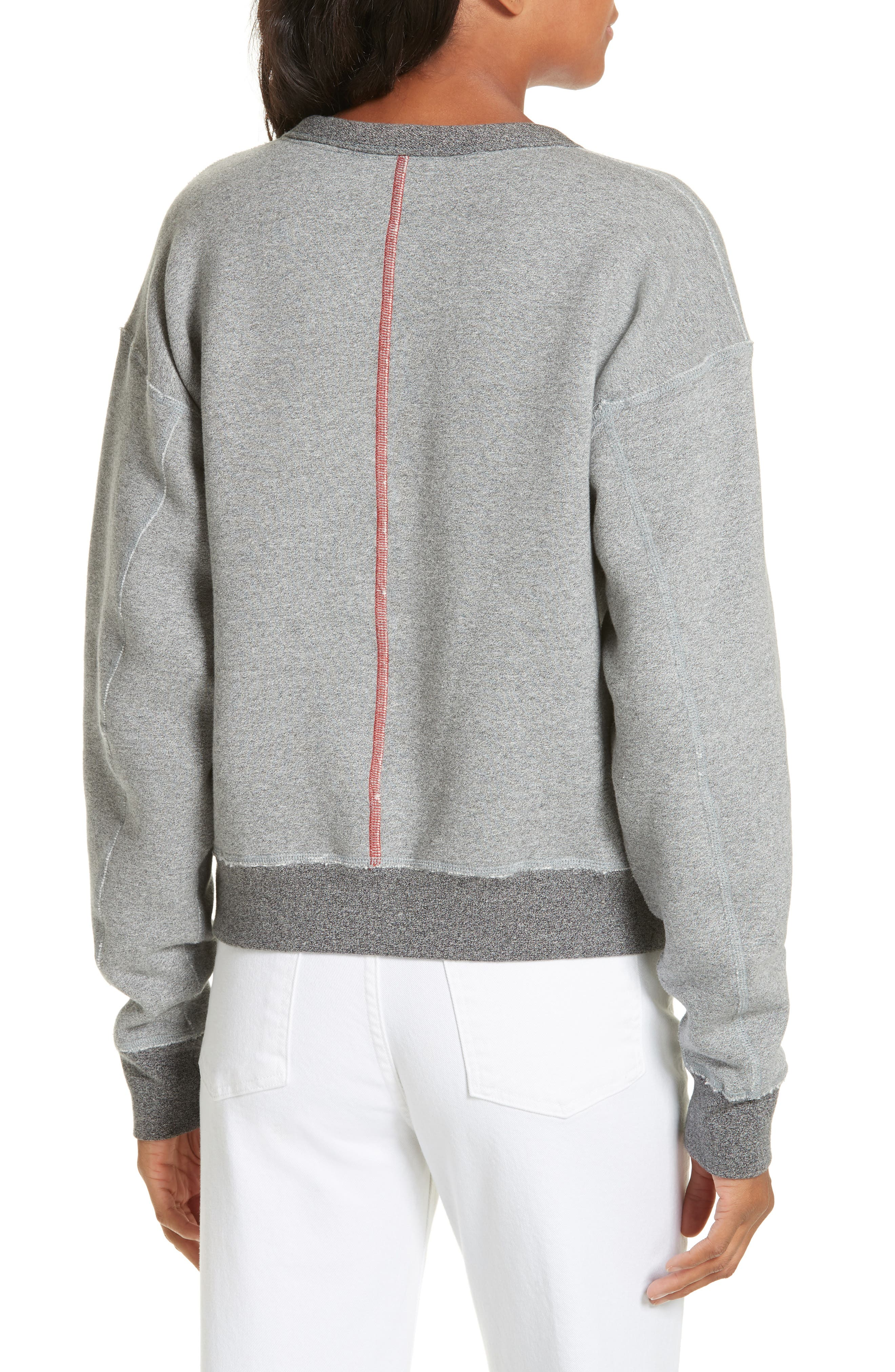 rag & bone Best Sweatshirt,                             Alternate thumbnail 2, color,                             HEATHER GREY