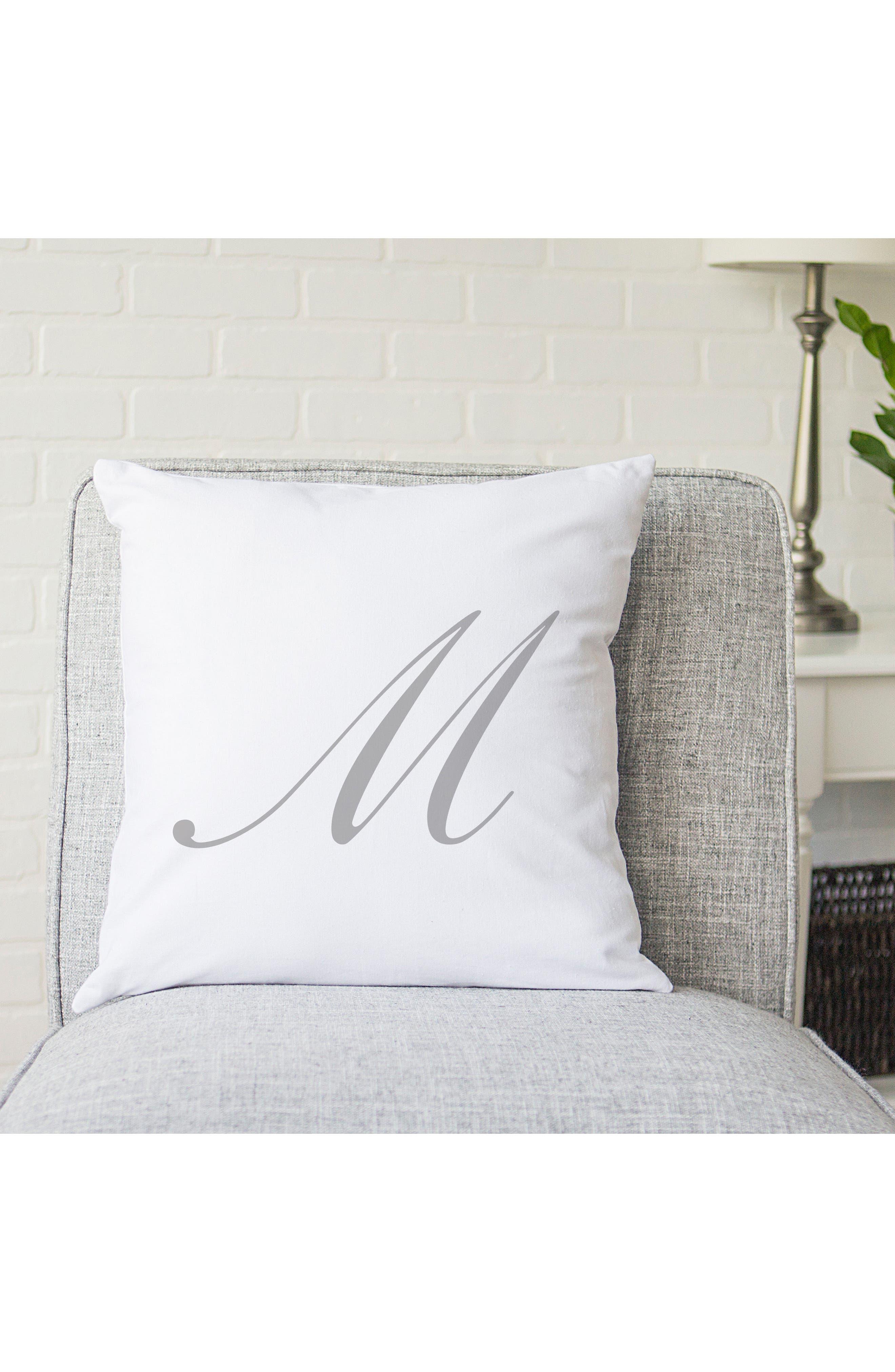 Script Monogram Accent Pillow,                             Alternate thumbnail 31, color,