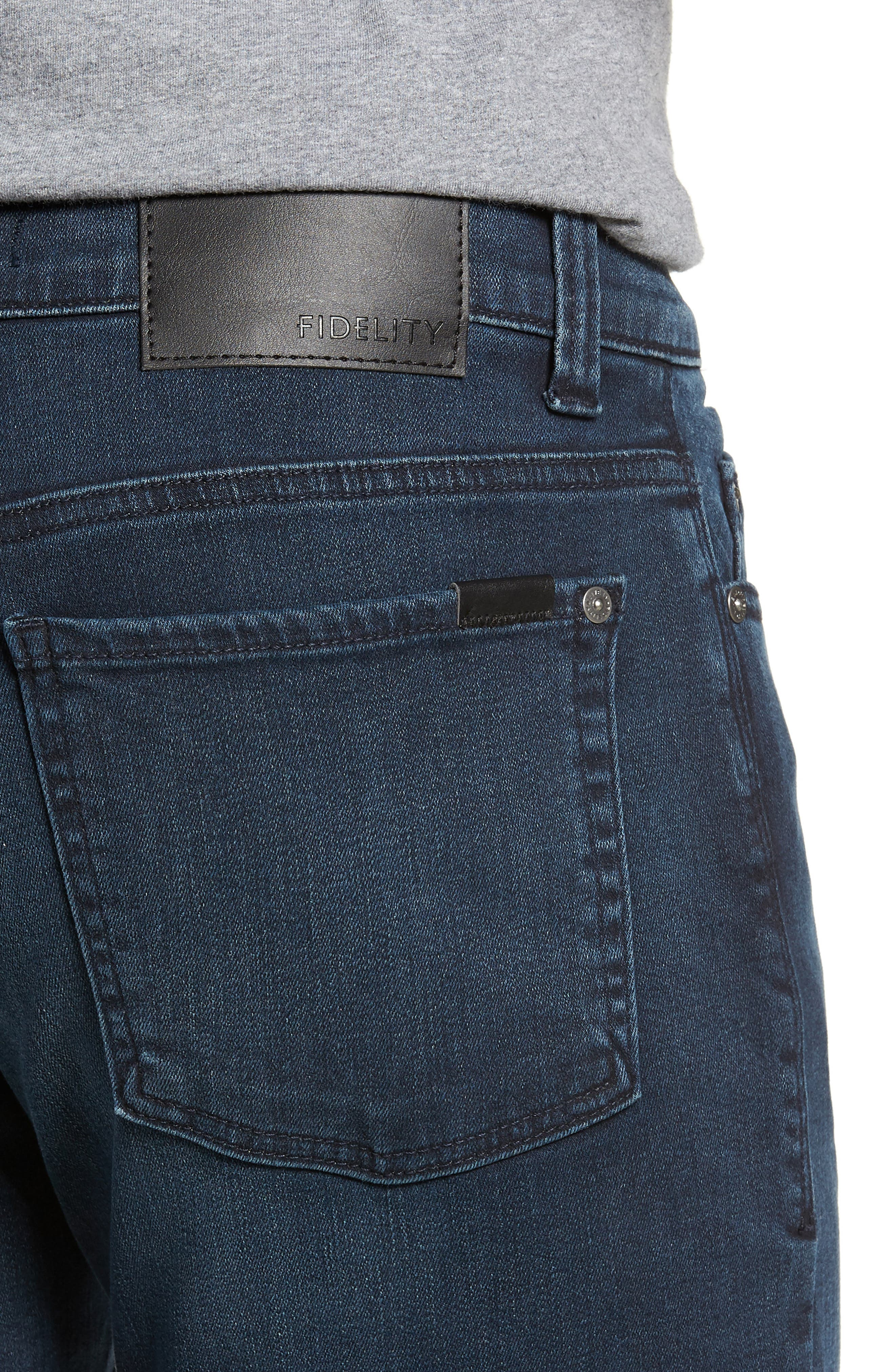 50-11 Relaxed Fit Jeans,                             Alternate thumbnail 4, color,                             MILLI BLUE
