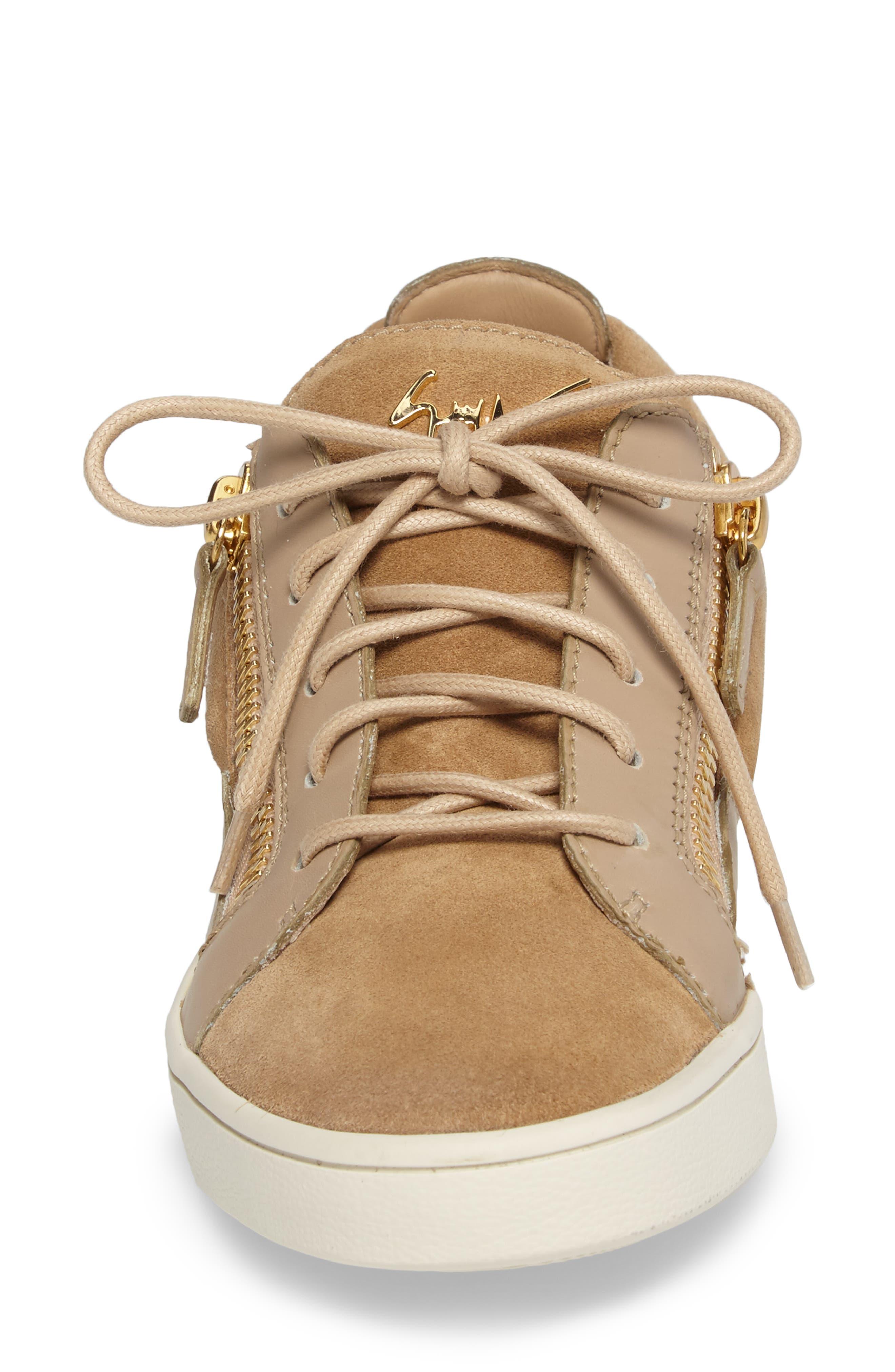 Low Top Zip Sneaker,                             Alternate thumbnail 4, color,                             250