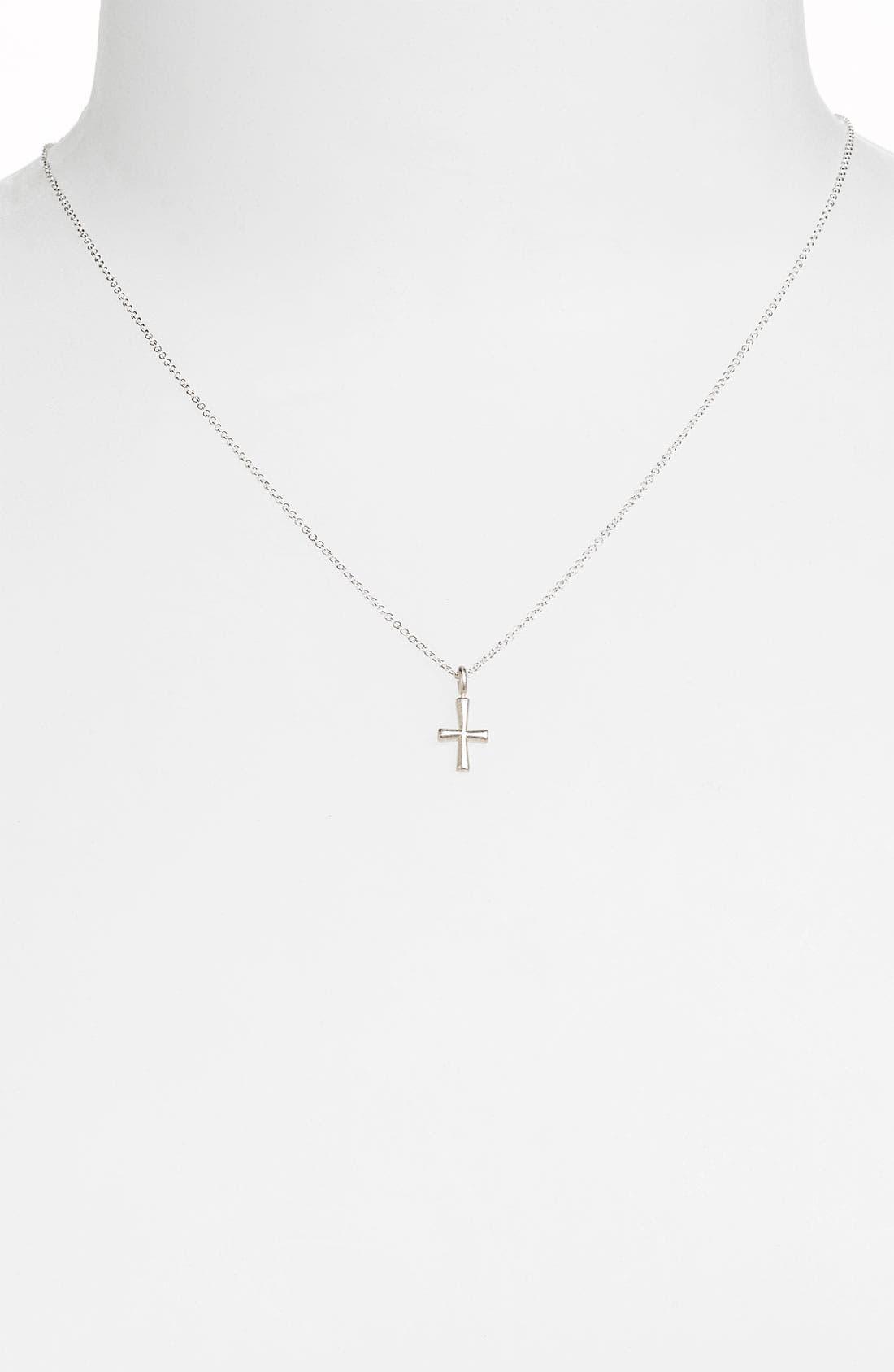 'Blessed' Cross Pendant Necklace,                             Alternate thumbnail 2, color,                             040