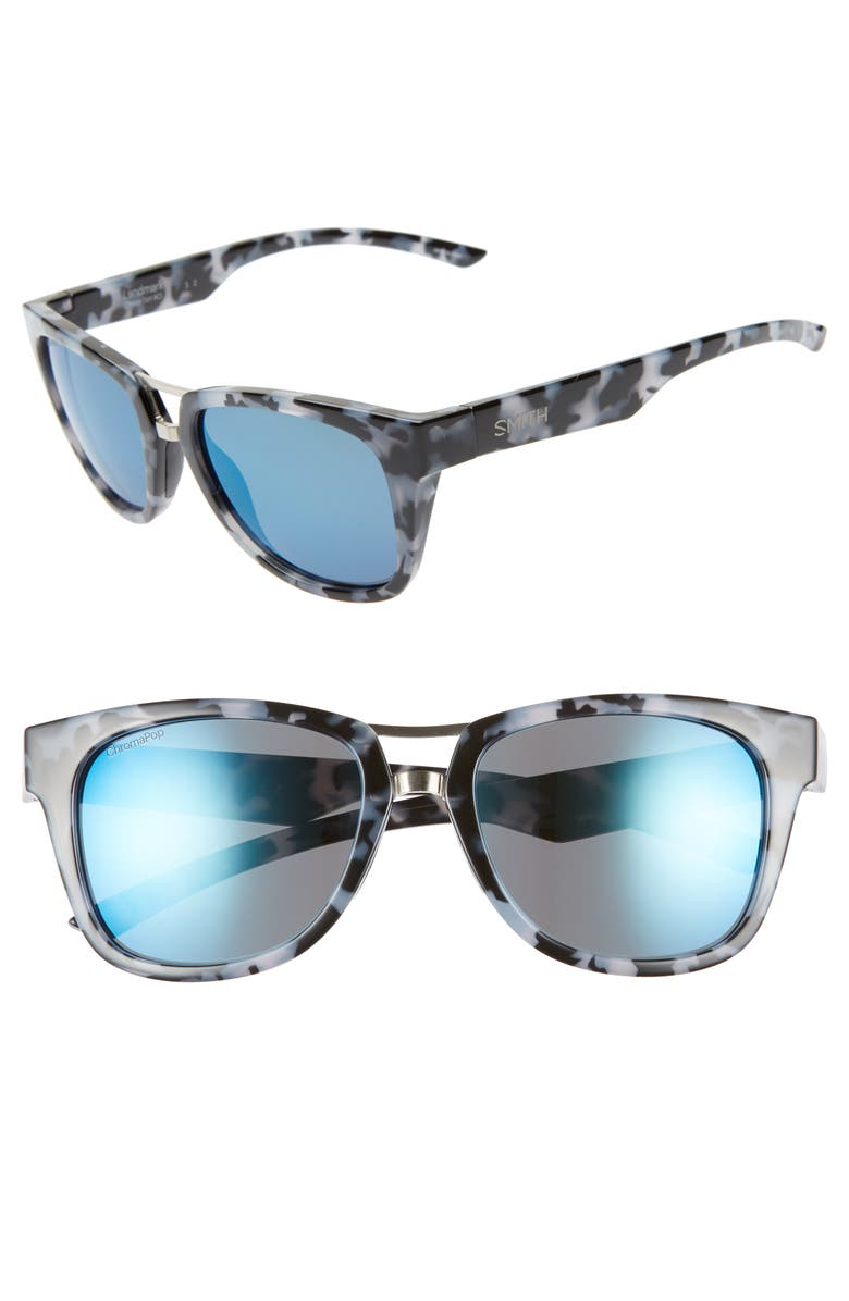 Smith LANDMARK 53MM CHROMAPOP(TM) POLARIZED SUNGLASSES - CHOCOLATE TORTOISE