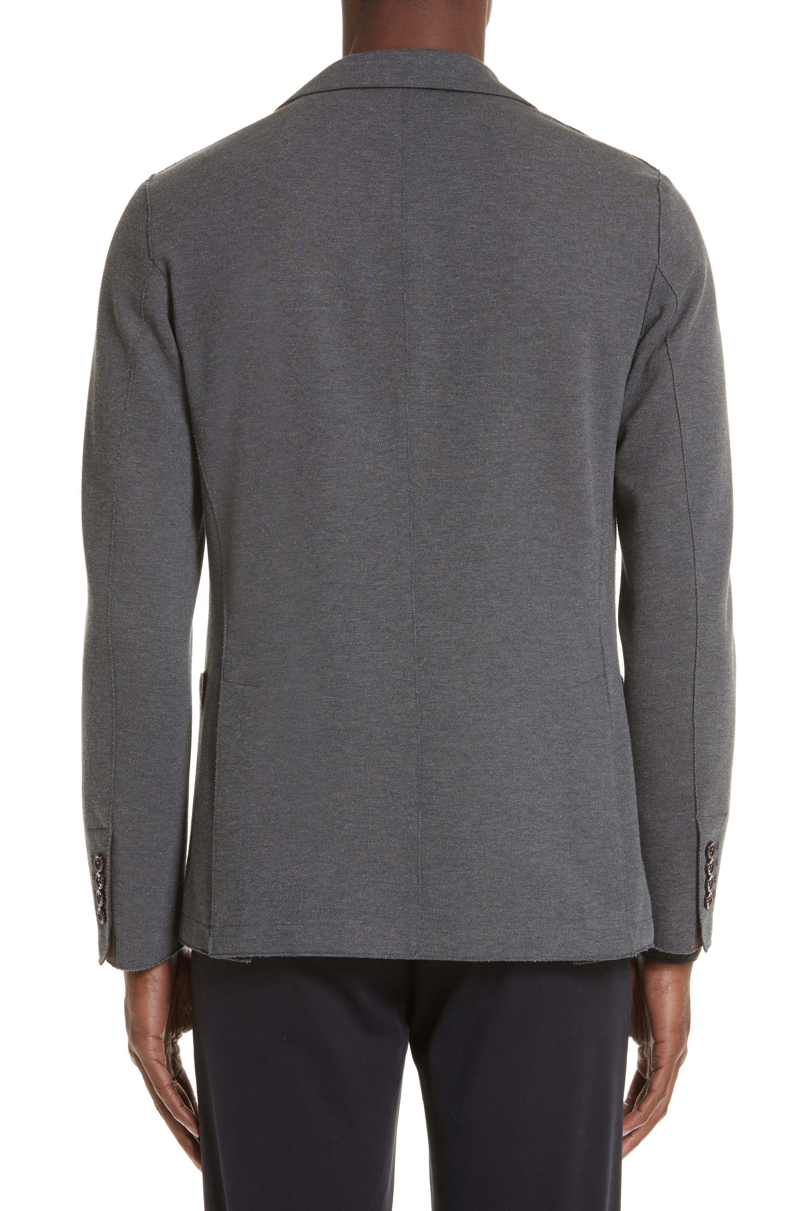 Slim Fit Stretch Cotton Blend Sport Coat,                             Alternate thumbnail 2, color,                             MED GREY