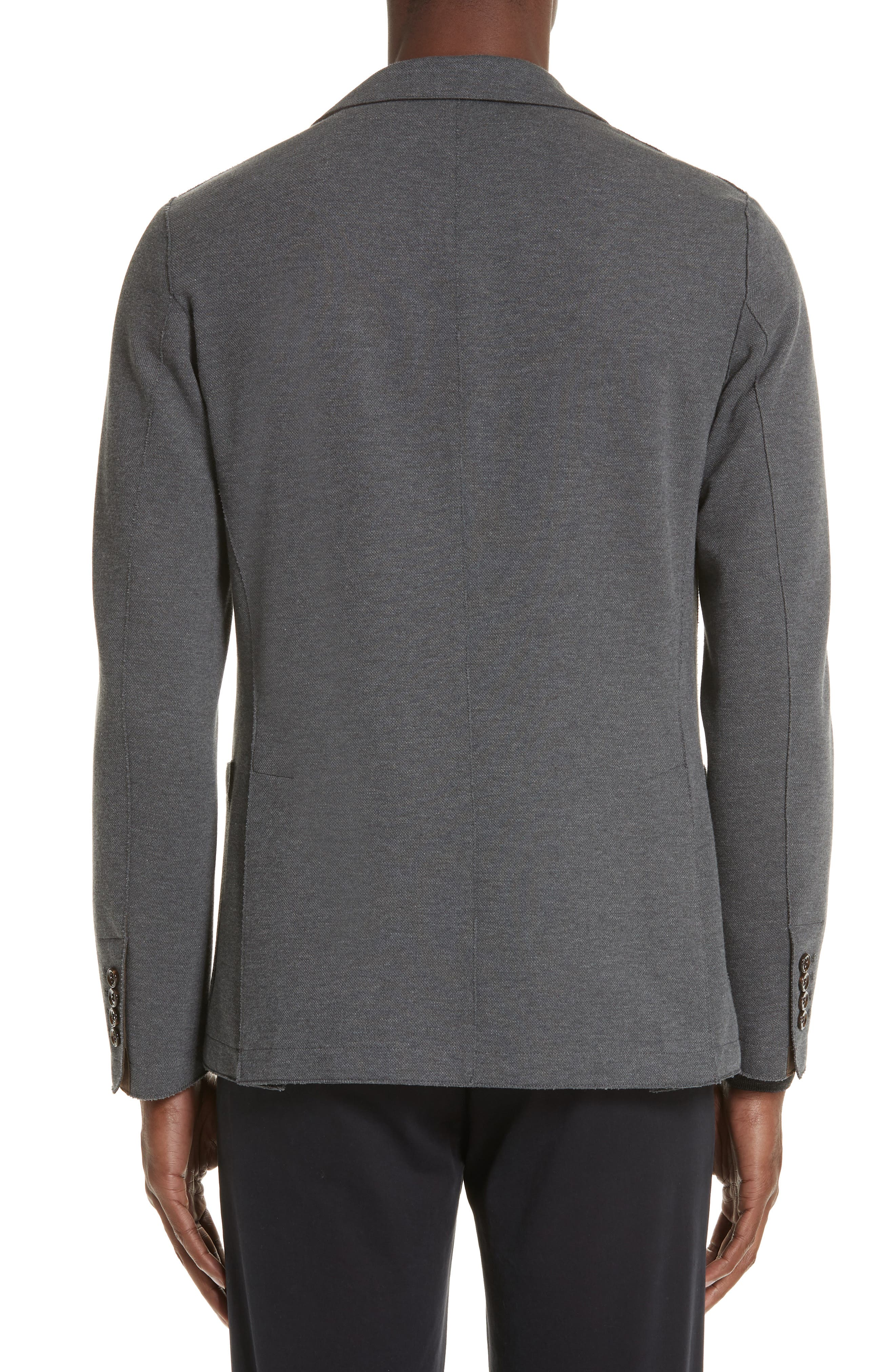 Slim Fit Stretch Cotton Blend Blazer,                             Alternate thumbnail 2, color,                             MED GREY
