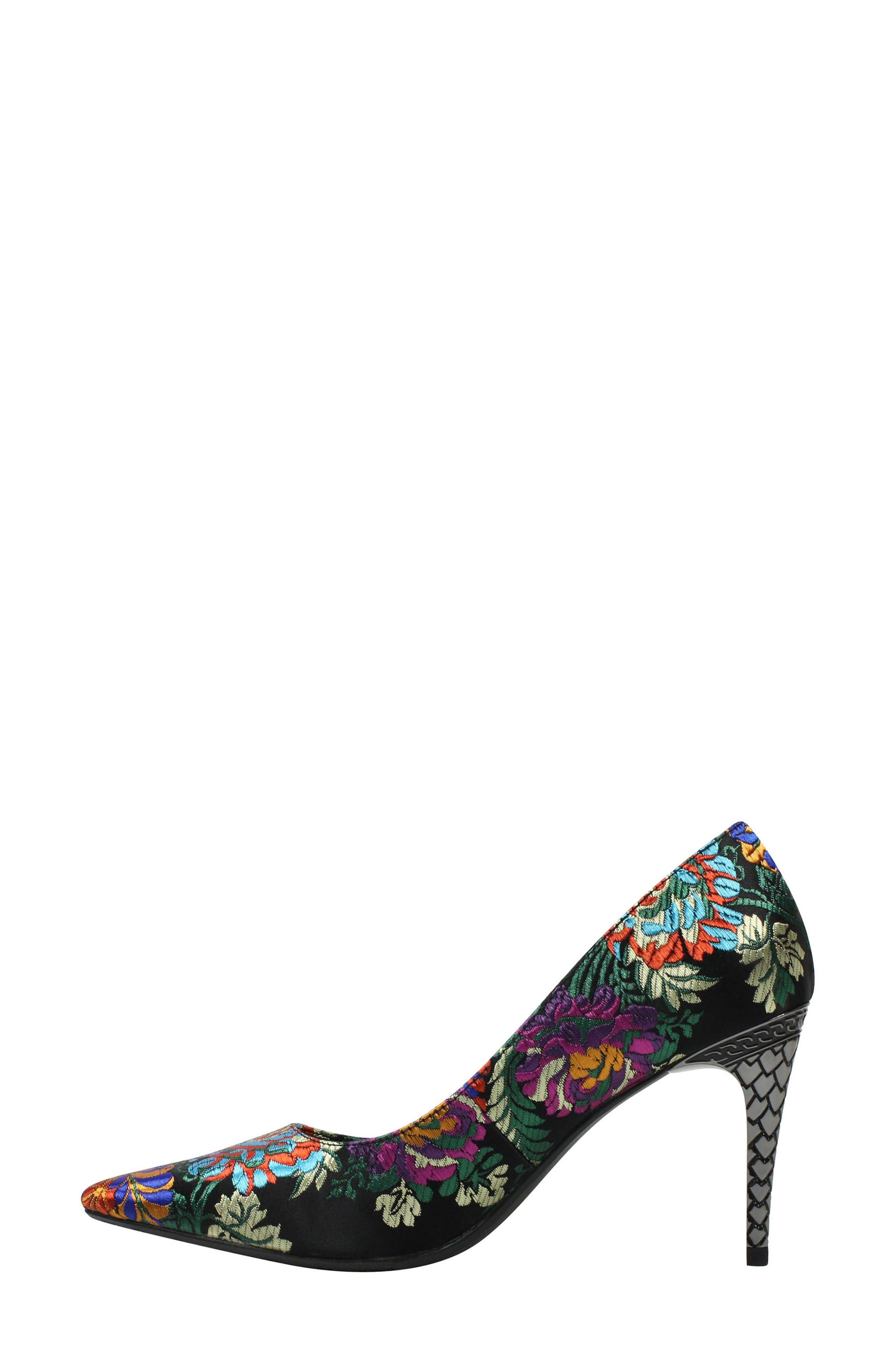 'Maressa' Pointy Toe Pump,                             Alternate thumbnail 7, color,                             BLACK MULTI