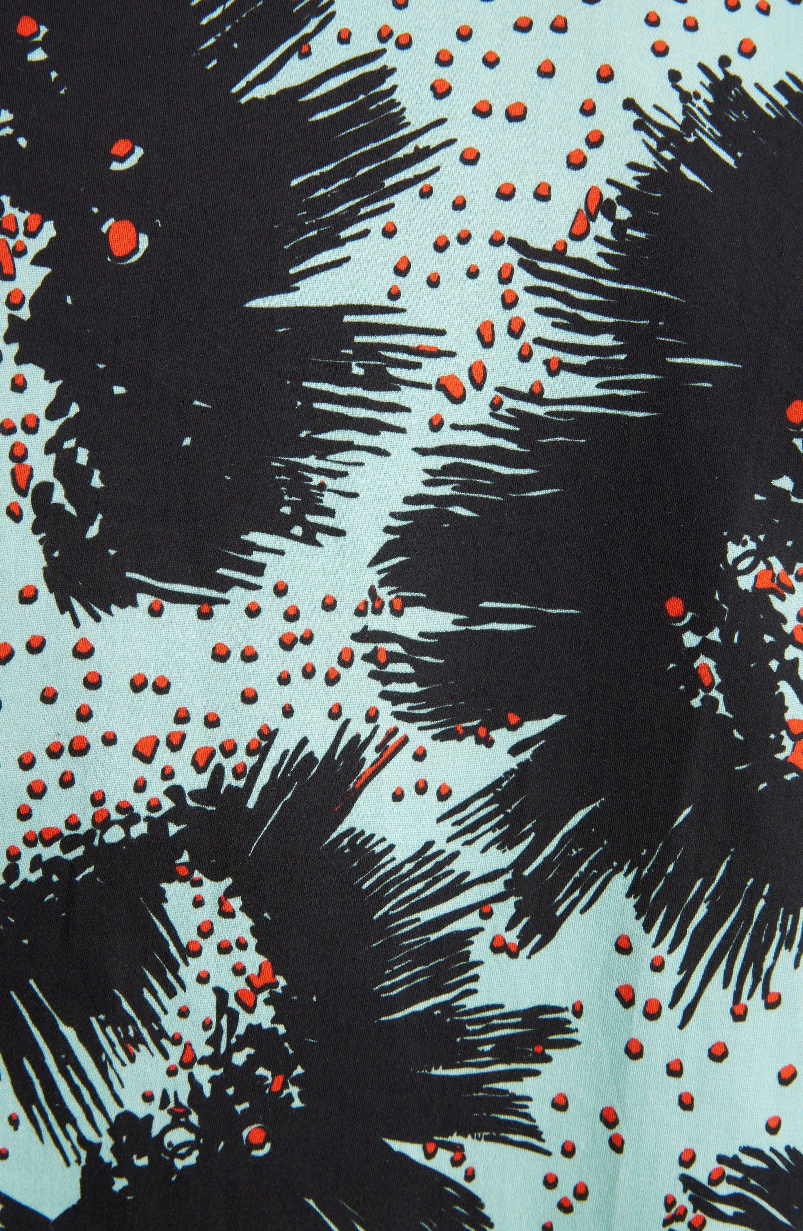 Rock Urchin Camp Shirt,                             Alternate thumbnail 5, color,                             GREEN/BLACK