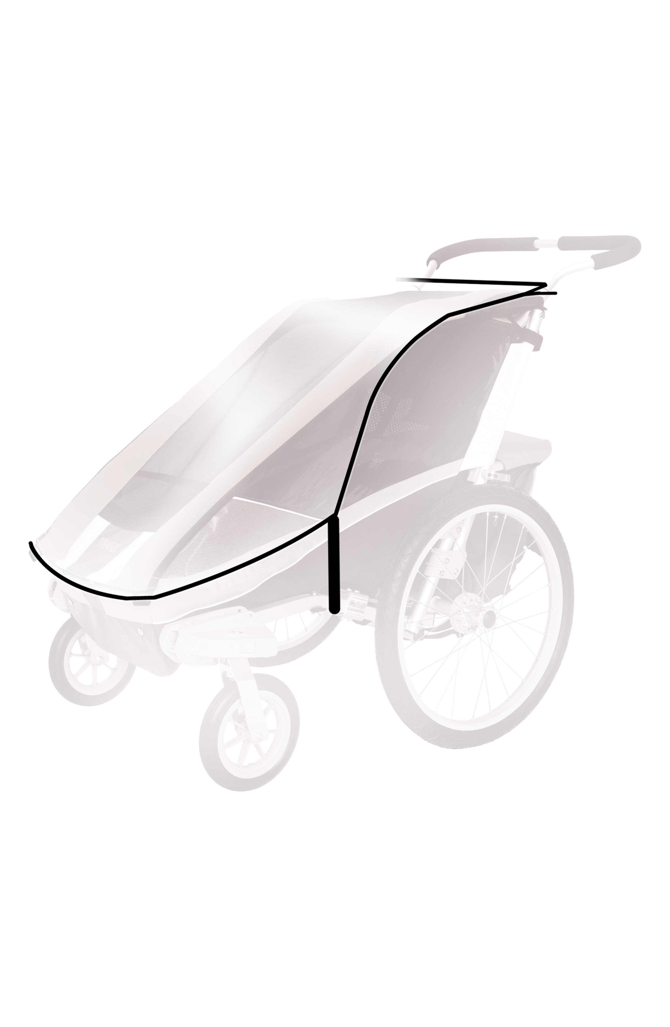 Protective Rain Cover for Thule Chariot CX 2/Chariot Cougar 2 Strollers,                             Alternate thumbnail 2, color,                             001
