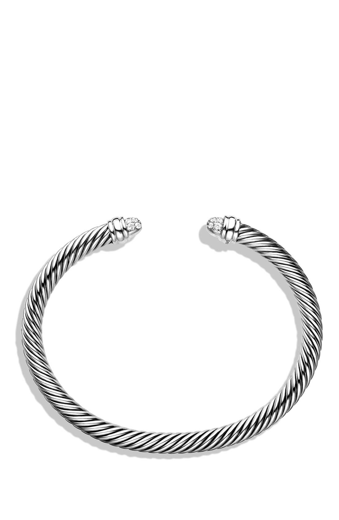 Cable Classics Bracelet with Diamonds, 5mm,                             Alternate thumbnail 2, color,                             DIAMOND