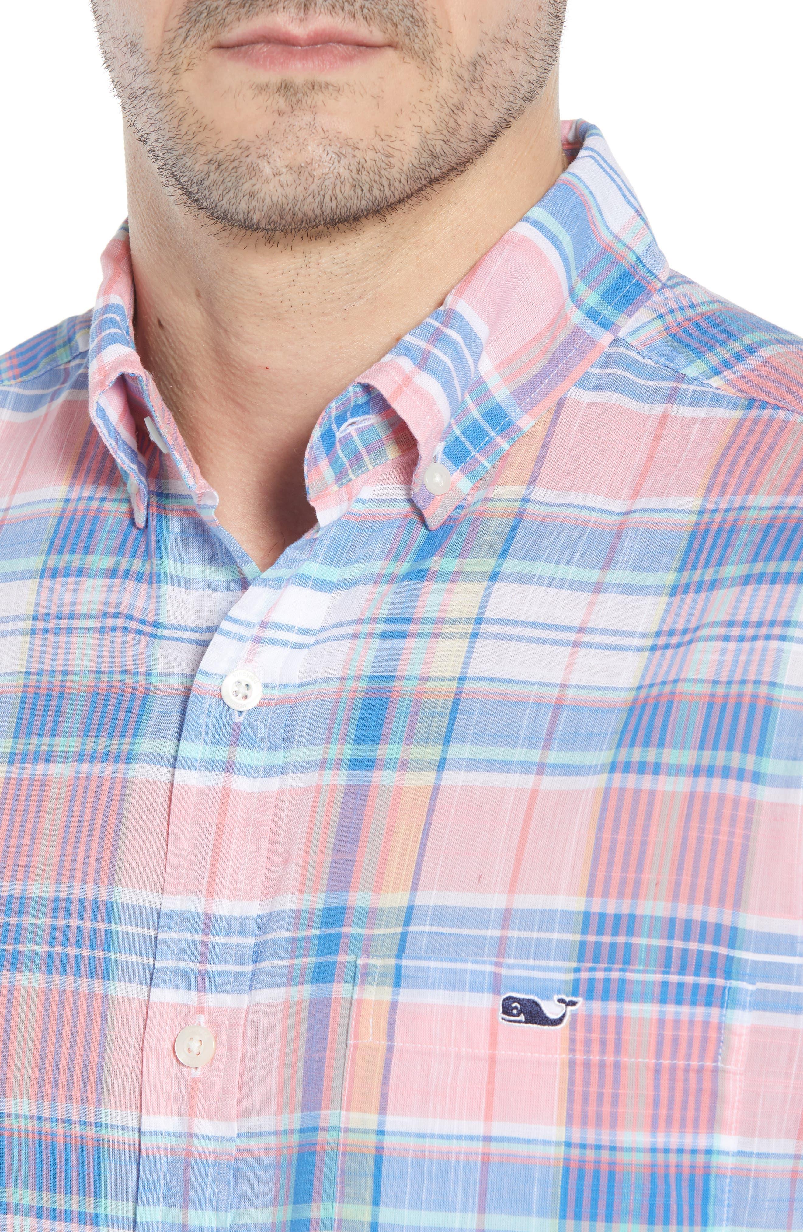 Smith Point Tucker Classic Fit Plaid Sport Shirt,                             Alternate thumbnail 8, color,