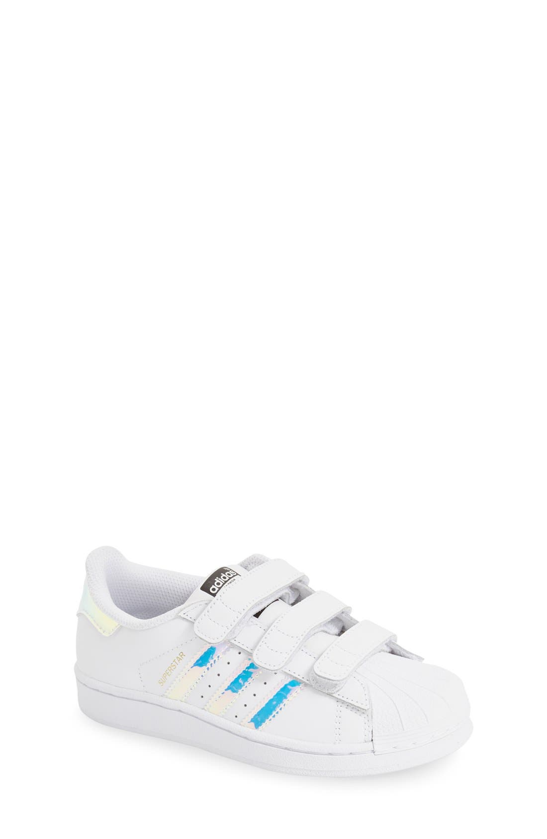 Superstar - Iridescent Sneaker,                             Main thumbnail 1, color,                             SILVER METALLIC/ WHITE