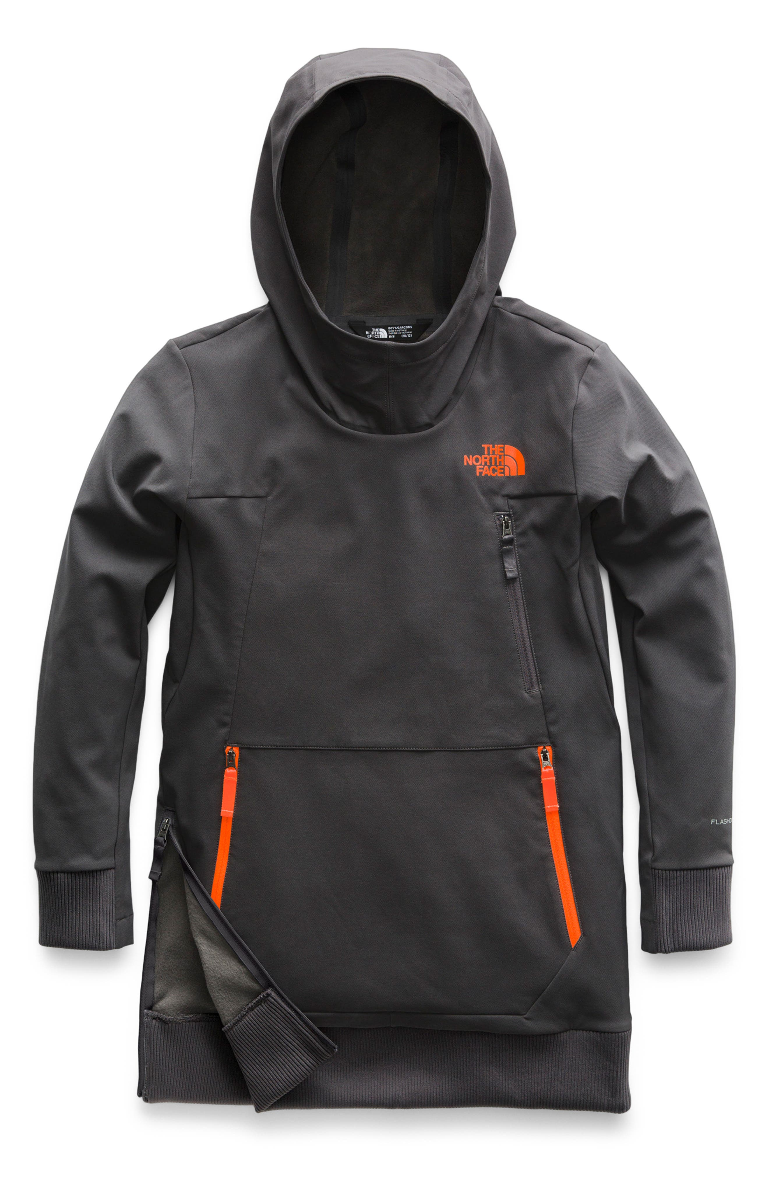 Tekno Water Resistant Pullover Hoodie, Main, color, GRAPHITE GREY
