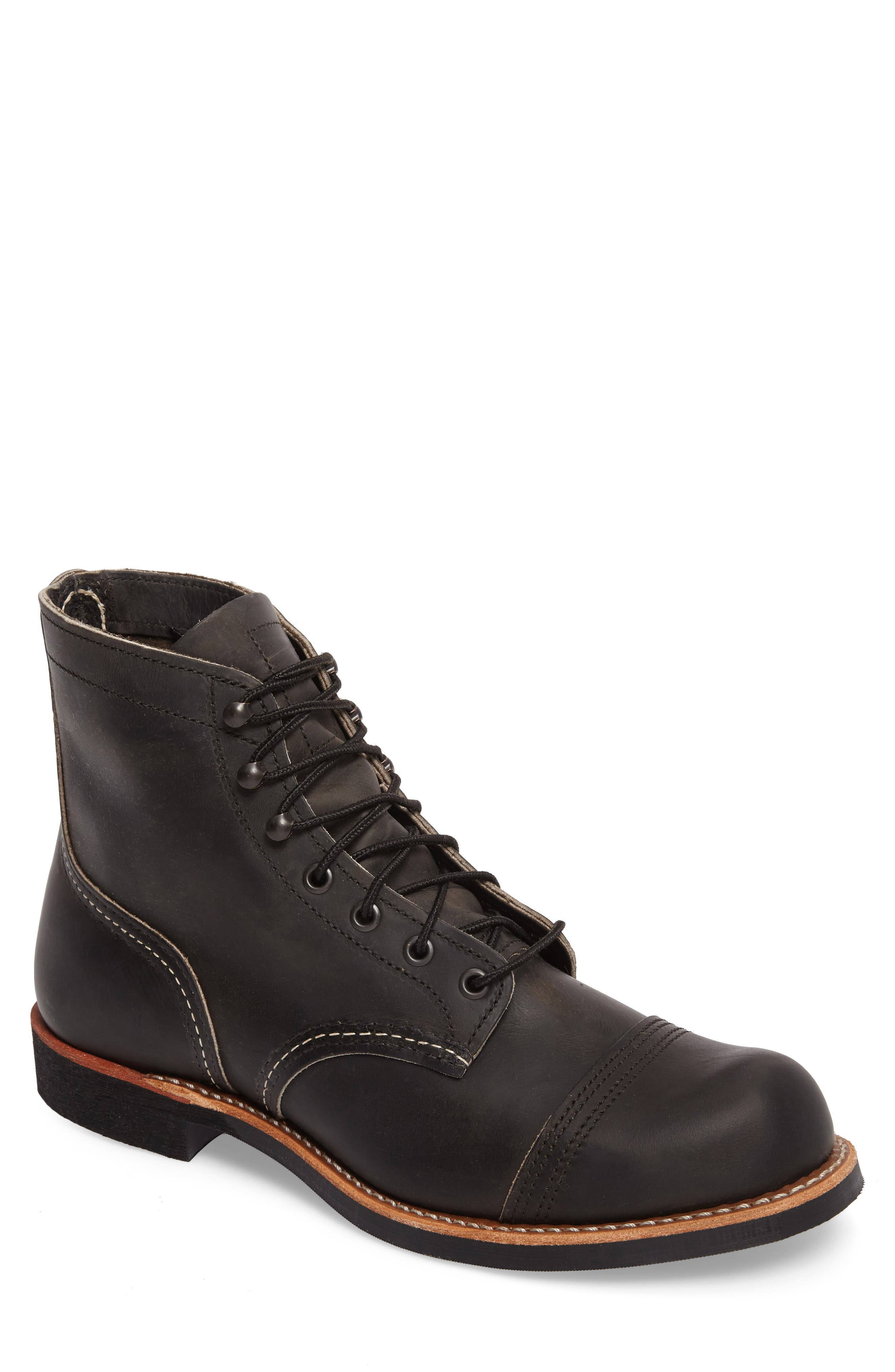 Iron Ranger Cap Toe Boot,                         Main,                         color, CHARCOAL LEATHER