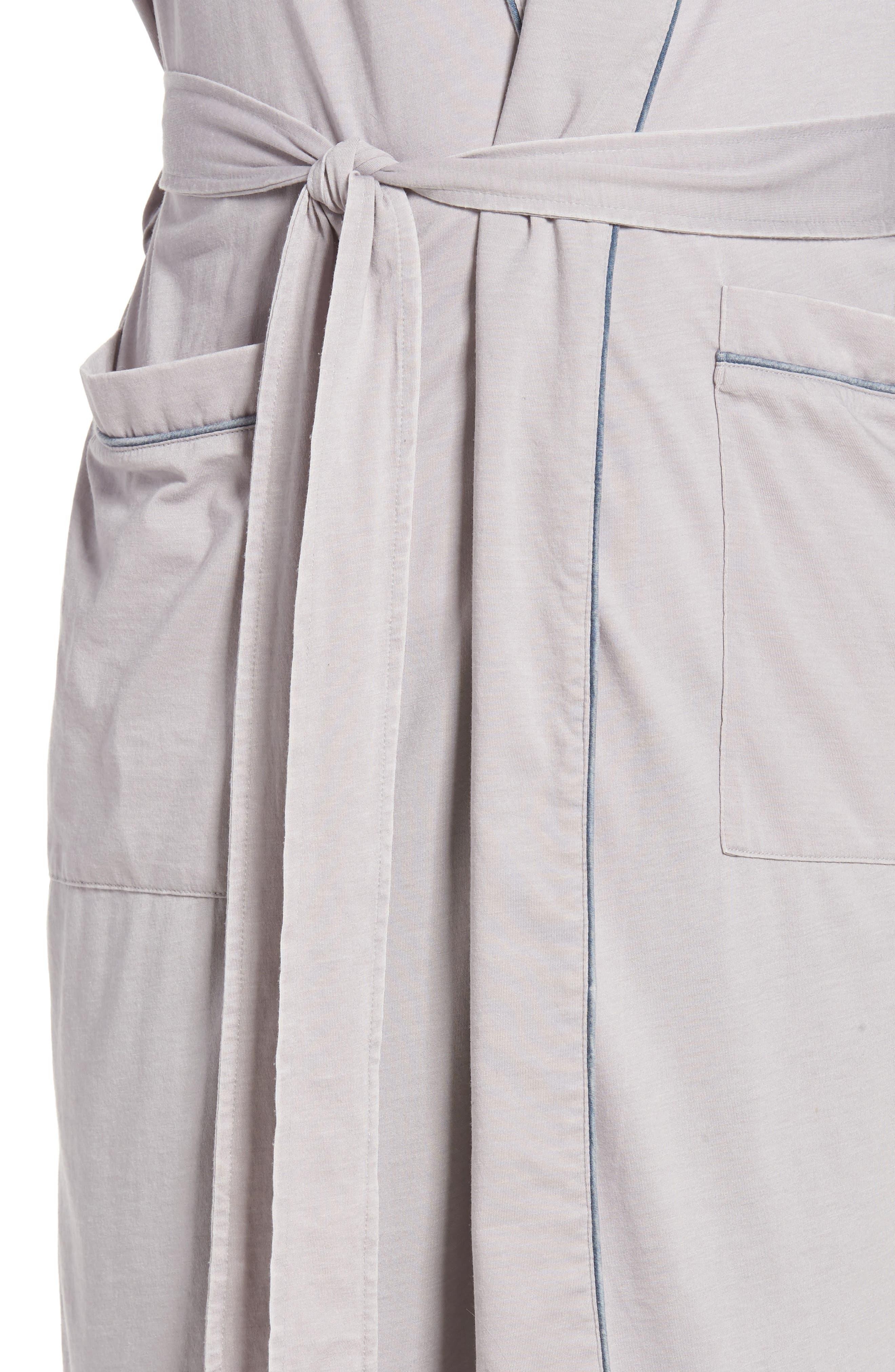 Burnout Cotton Blend Robe,                             Alternate thumbnail 8, color,