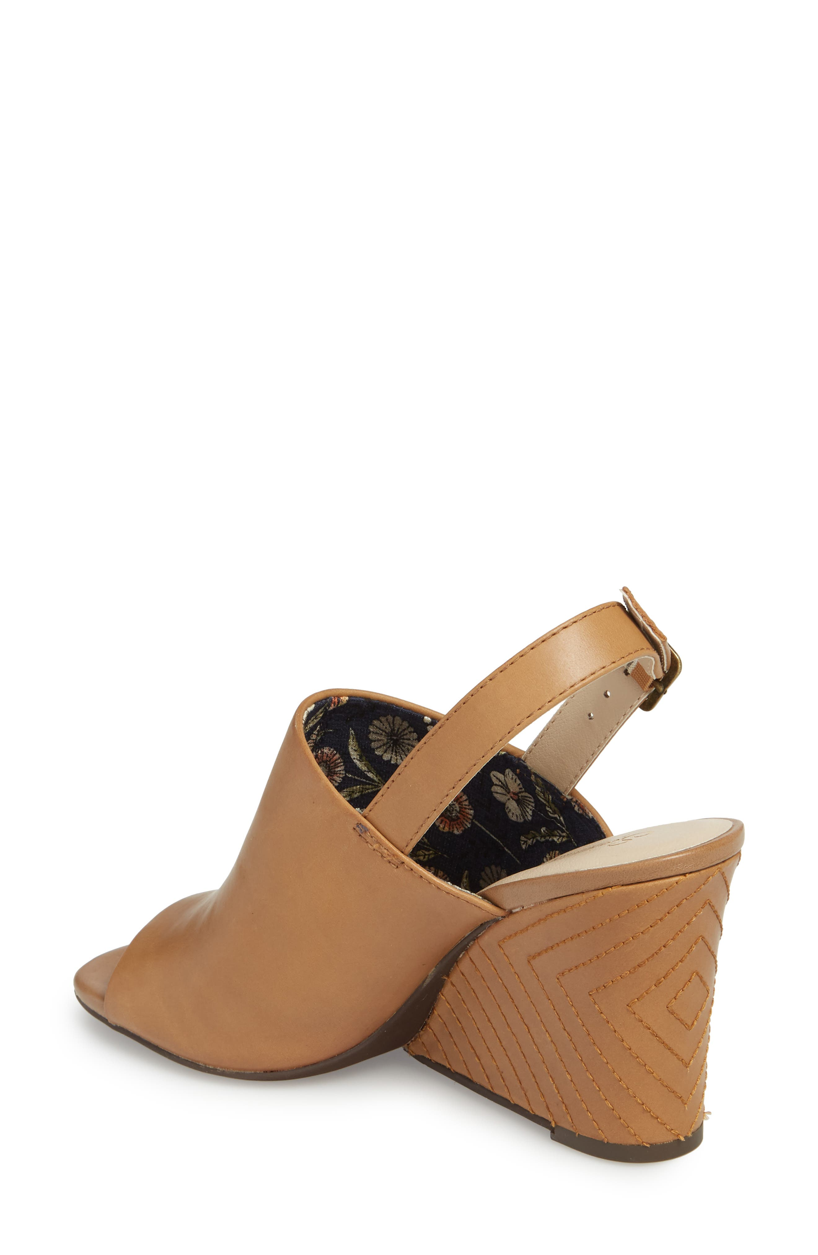 Abyssal Wedge Sandal,                             Alternate thumbnail 2, color,                             TAN LEATHER