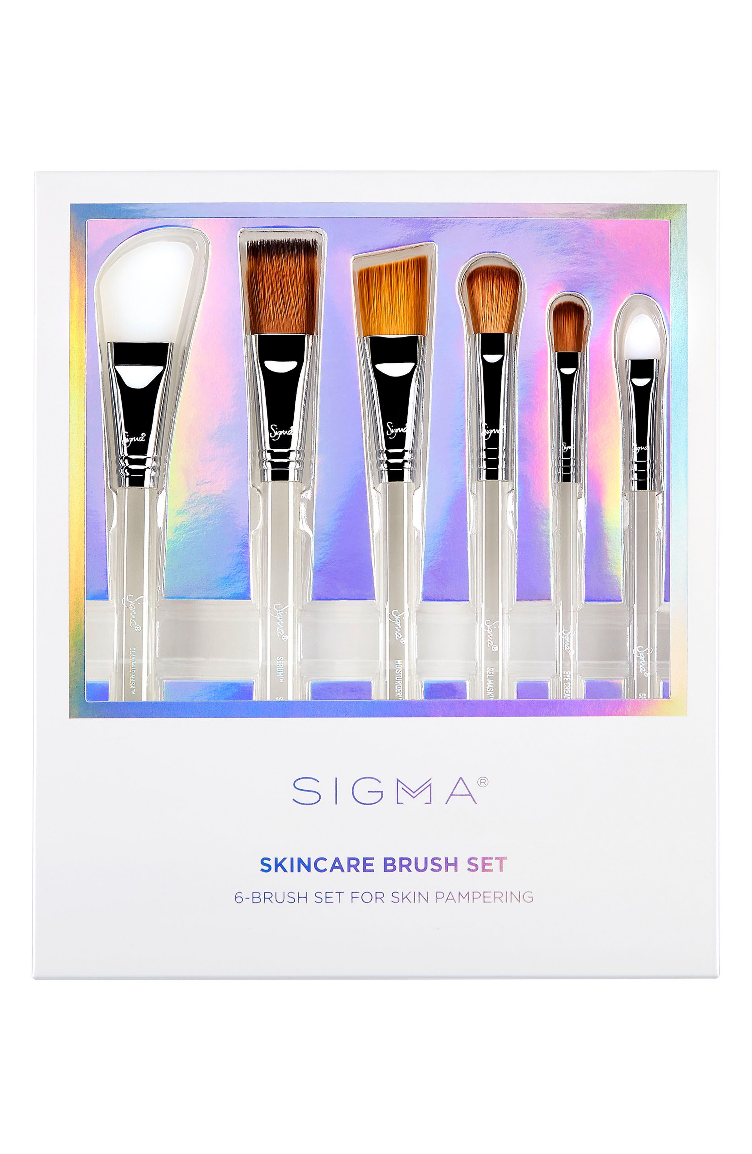 SIGMA BEAUTY,                             Sigma Skincare Brush Set,                             Alternate thumbnail 2, color,                             NO COLOR