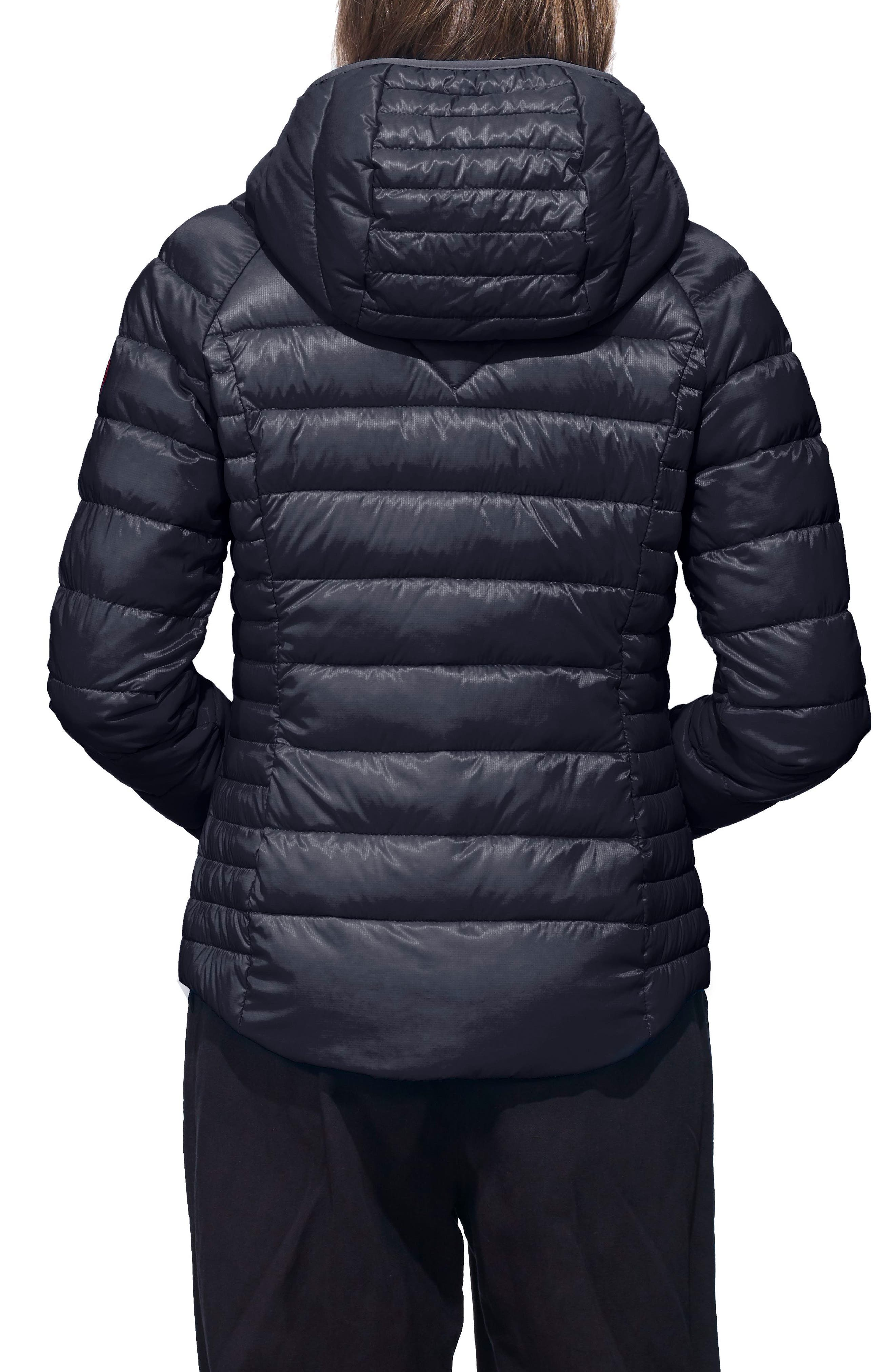 'Brookvale' Packable Hooded Quilted Down Jacket,                             Alternate thumbnail 2, color,                             ADMIRAL BLUE/ BLACK