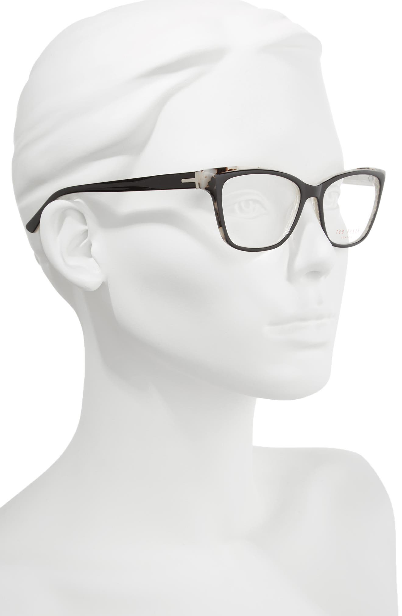 53mm Optical Cat Eye Glasses,                             Alternate thumbnail 3, color,