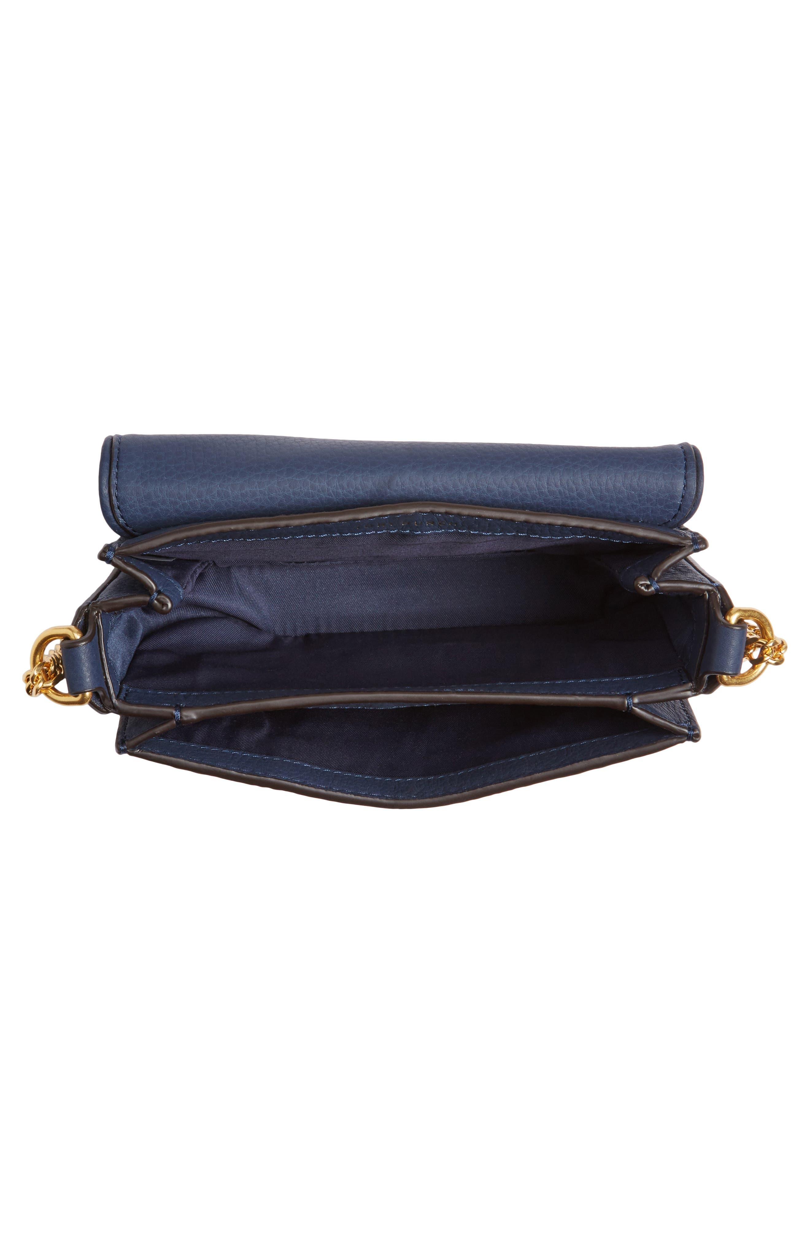 Mini Chelsea Leather Convertible Crossbody Bag,                             Alternate thumbnail 11, color,
