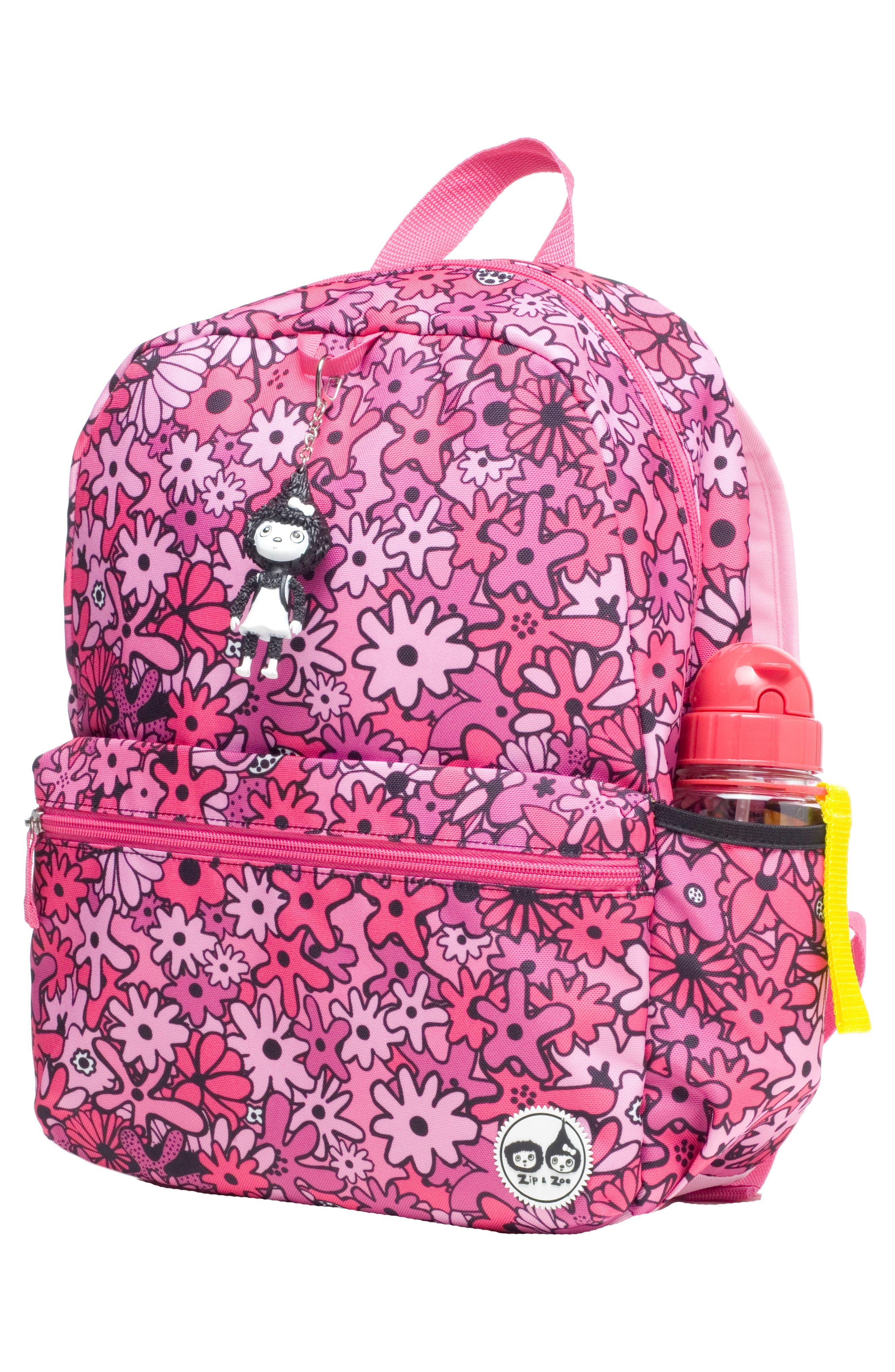 BABYMEL,                             Zip & Zoe Floral Junior Backpack,                             Alternate thumbnail 4, color,                             650