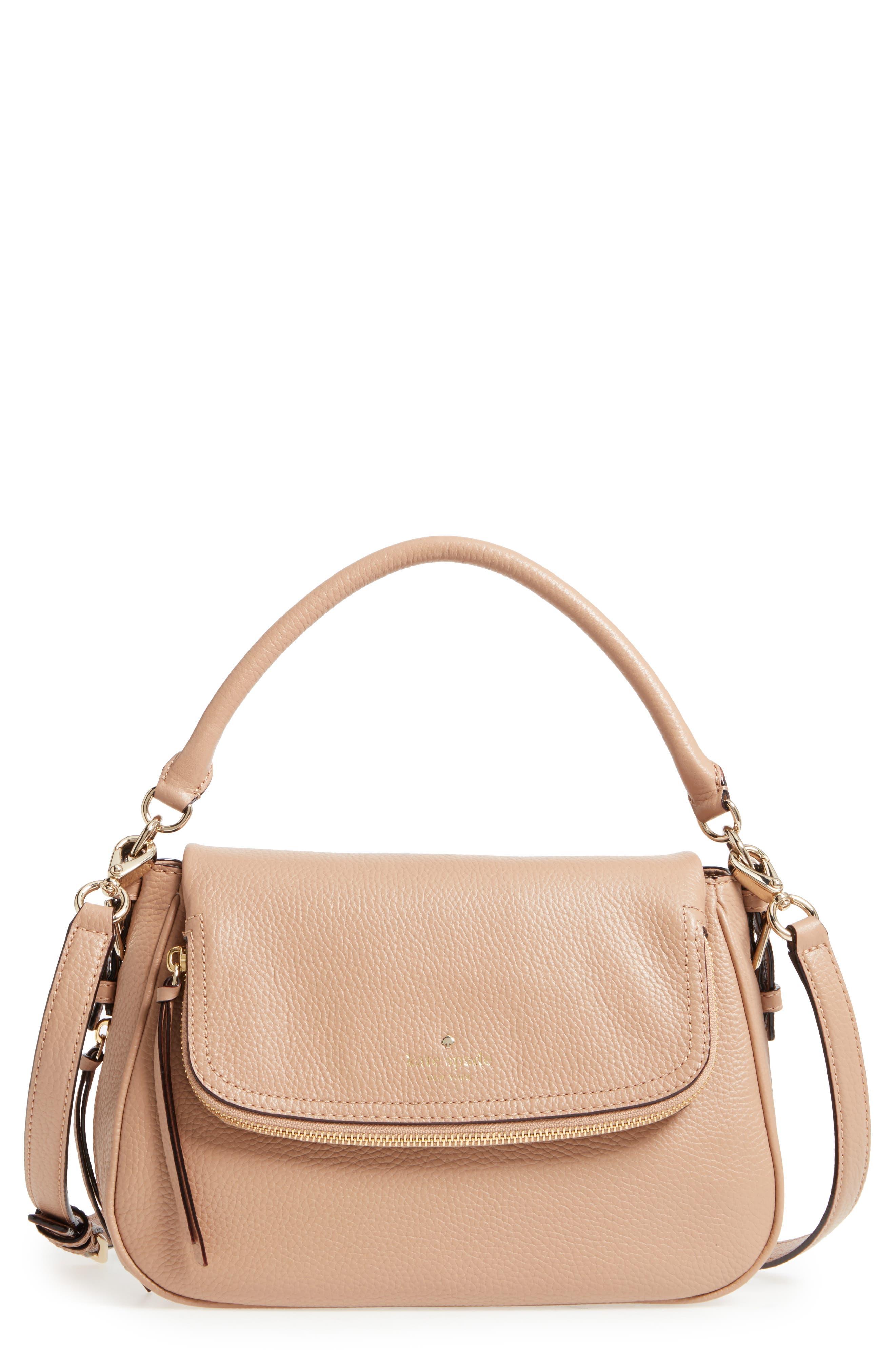 cobble hill - deva leather crossbody bag,                             Main thumbnail 2, color,