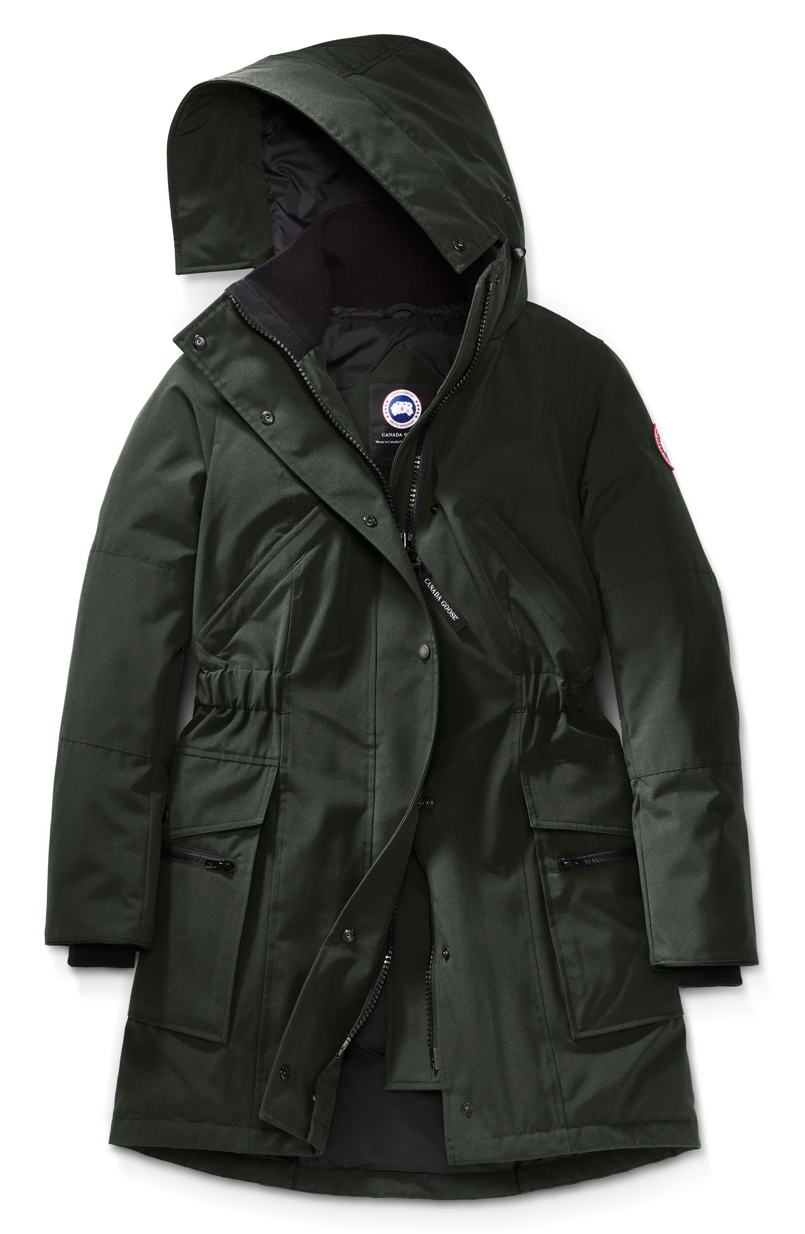 Kinley Insulated Parka,                             Alternate thumbnail 4, color,                             VOLCANO