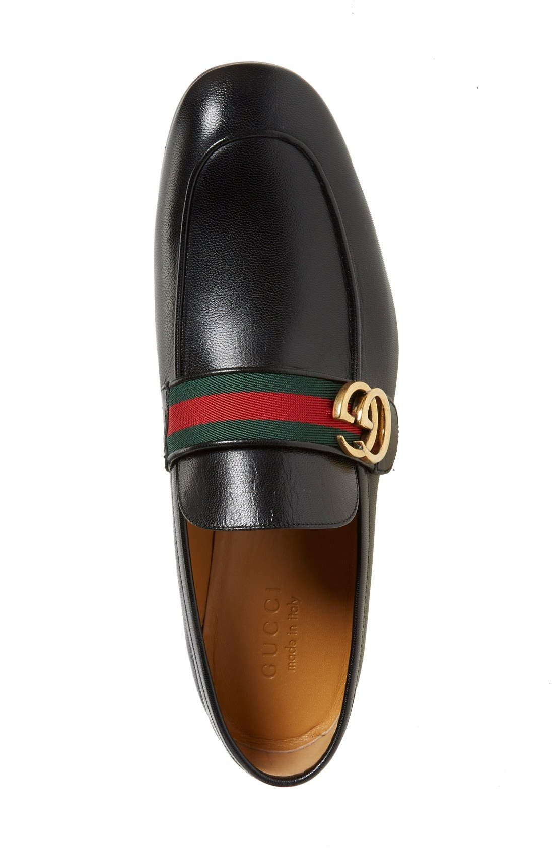 Donnie Bit Loafer,                             Alternate thumbnail 3, color,                             NERO LEATHER