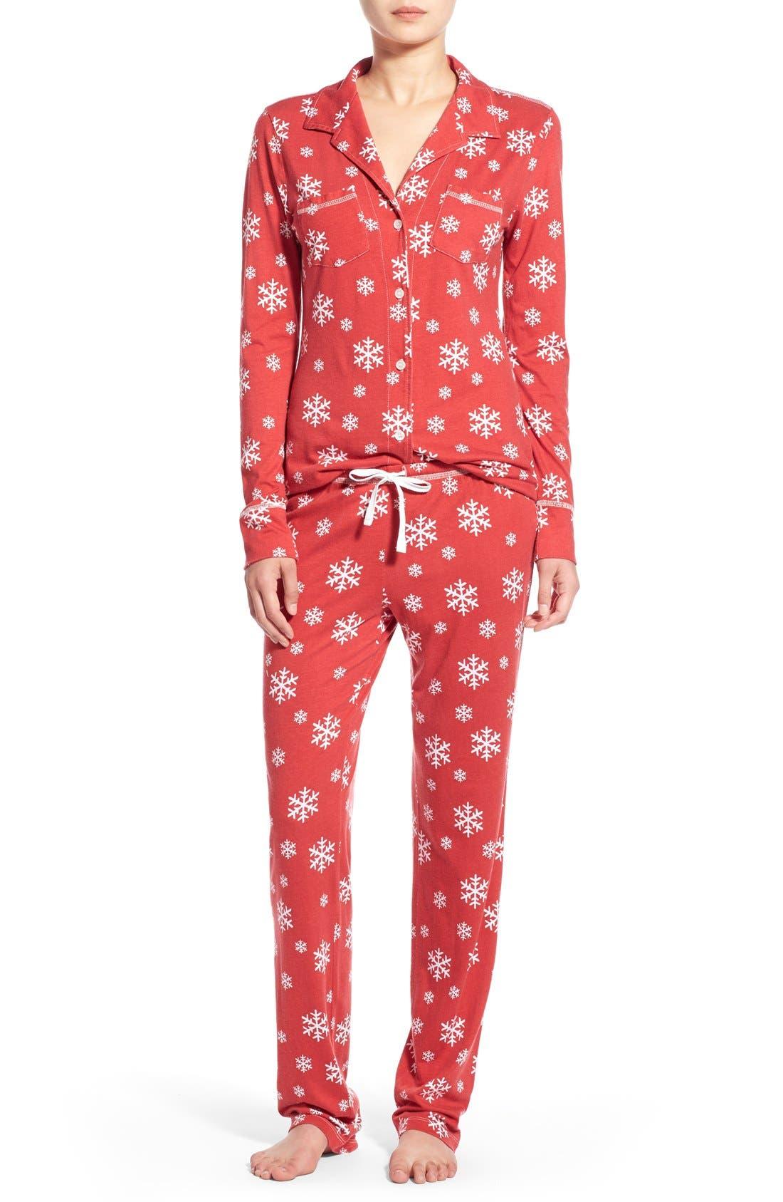 'Cassie' Supima<sup>®</sup> Cotton & Modal Pajamas, Main, color, 600