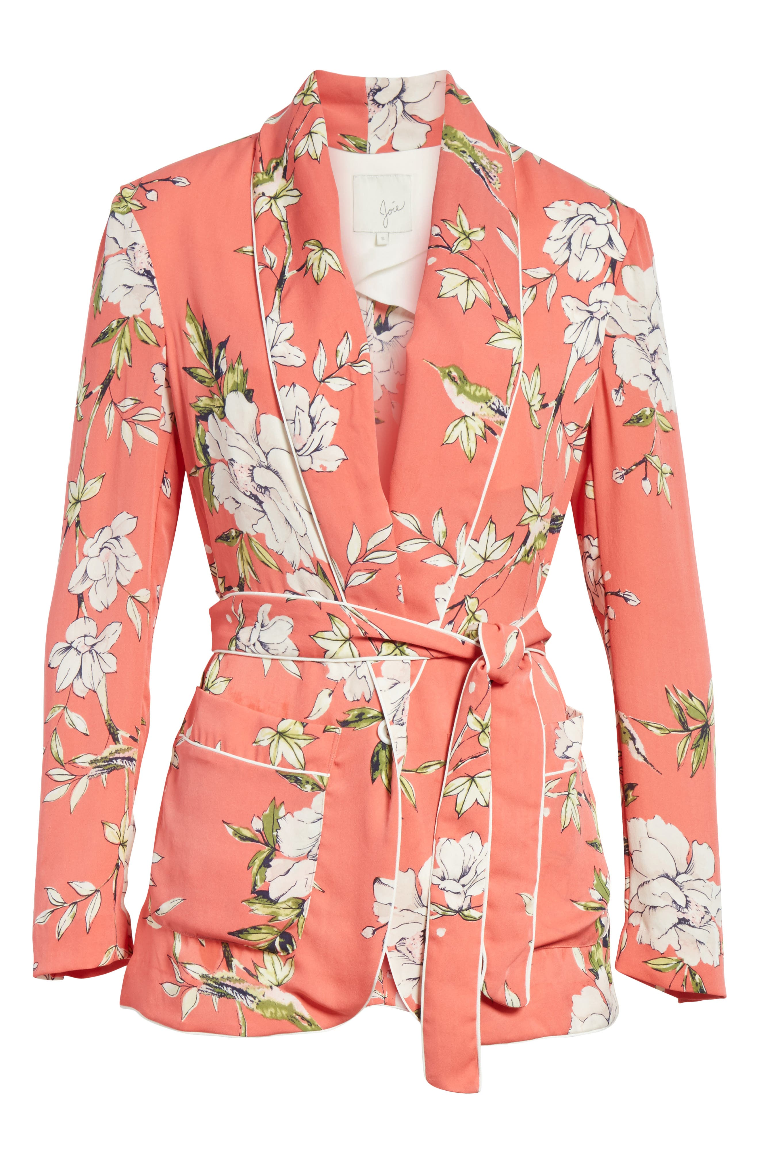 Anasophia Tie Silk Blazer,                             Alternate thumbnail 10, color,