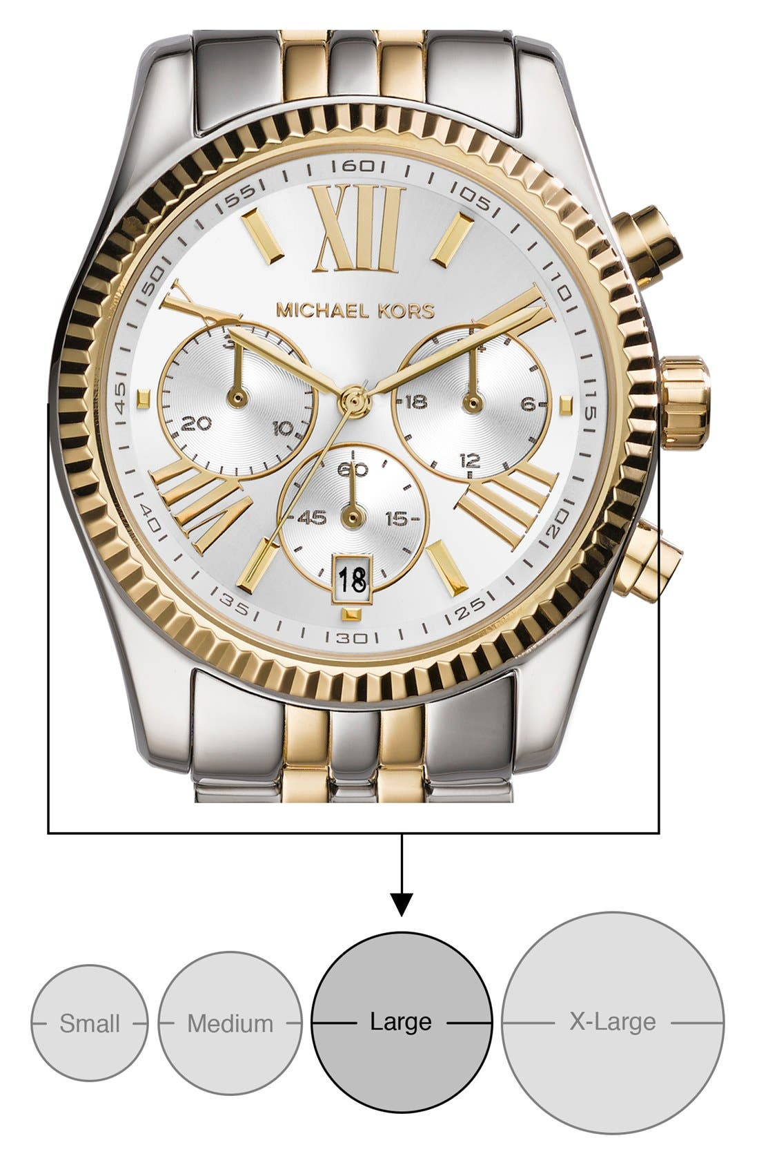 'Lexington' Chronograph Bracelet Watch, 38mm,                             Alternate thumbnail 34, color,