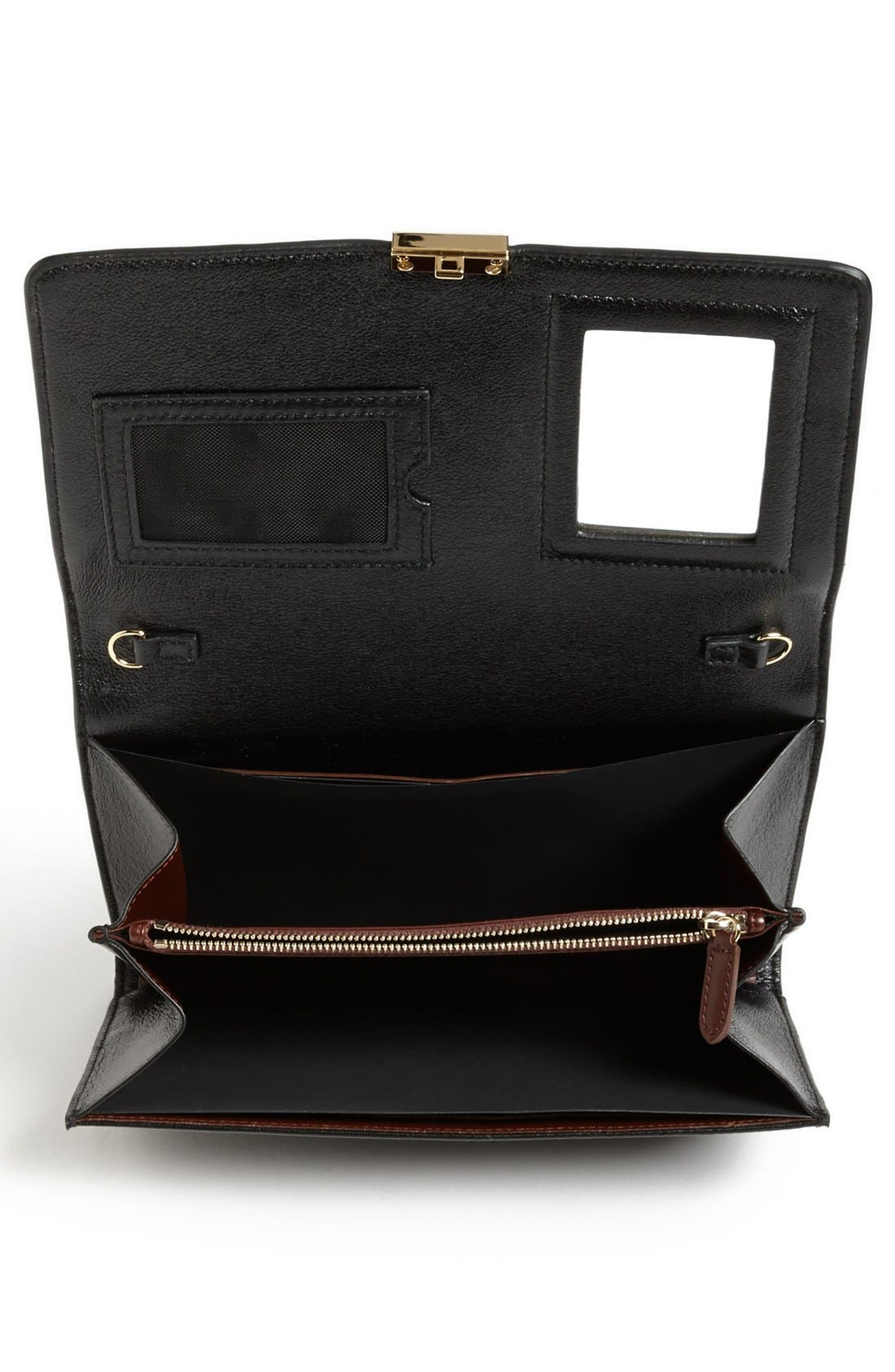 MARC JACOBS,                             'Checkers' All-In-One Leather Crossbody Bag,                             Alternate thumbnail 2, color,                             002