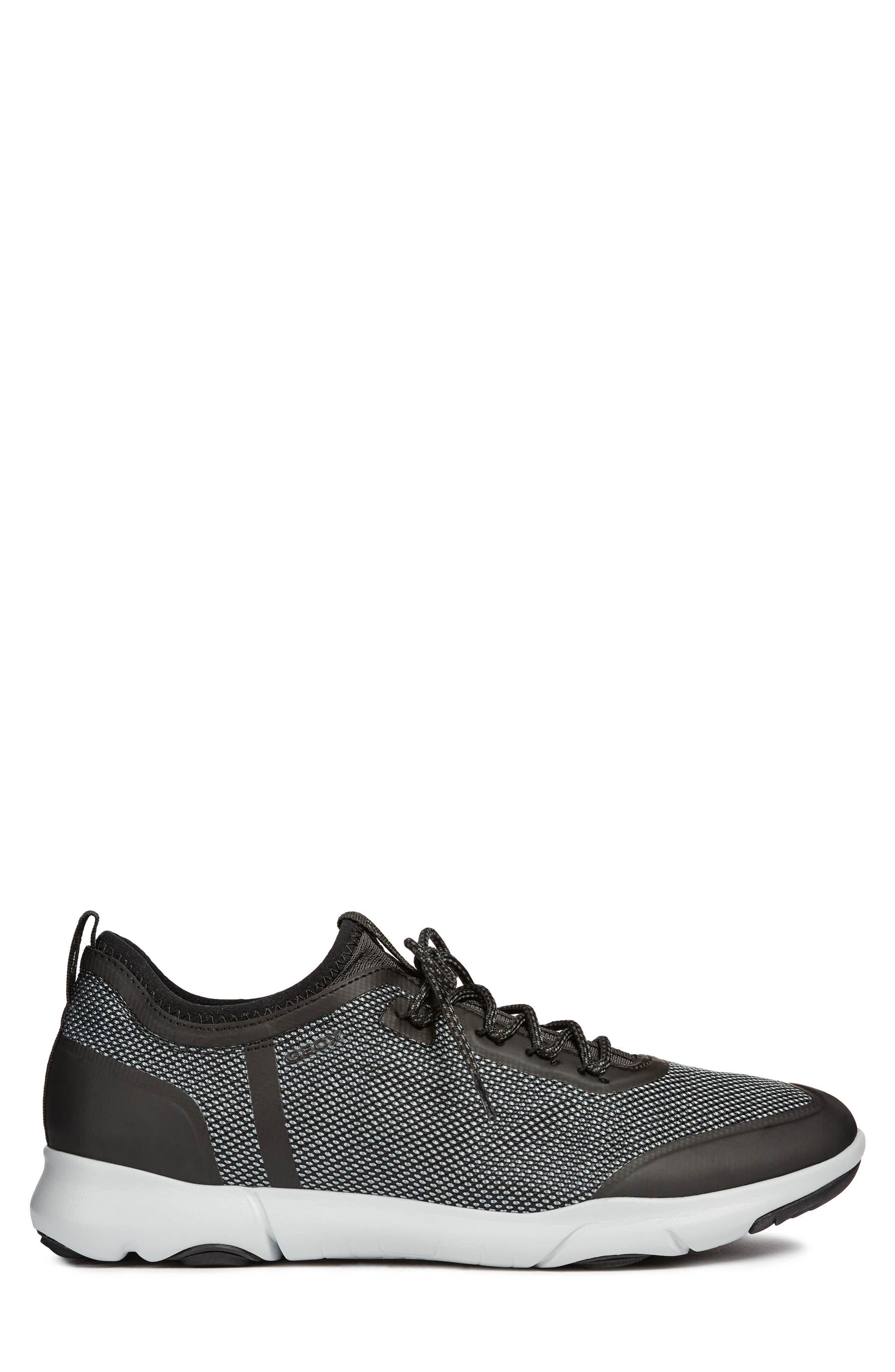 Nebula X 3 Low Top Sneaker,                             Alternate thumbnail 3, color,                             BLACK LEATHER