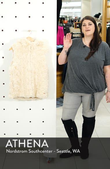 Faux Fur Hooded Vest, sales video thumbnail
