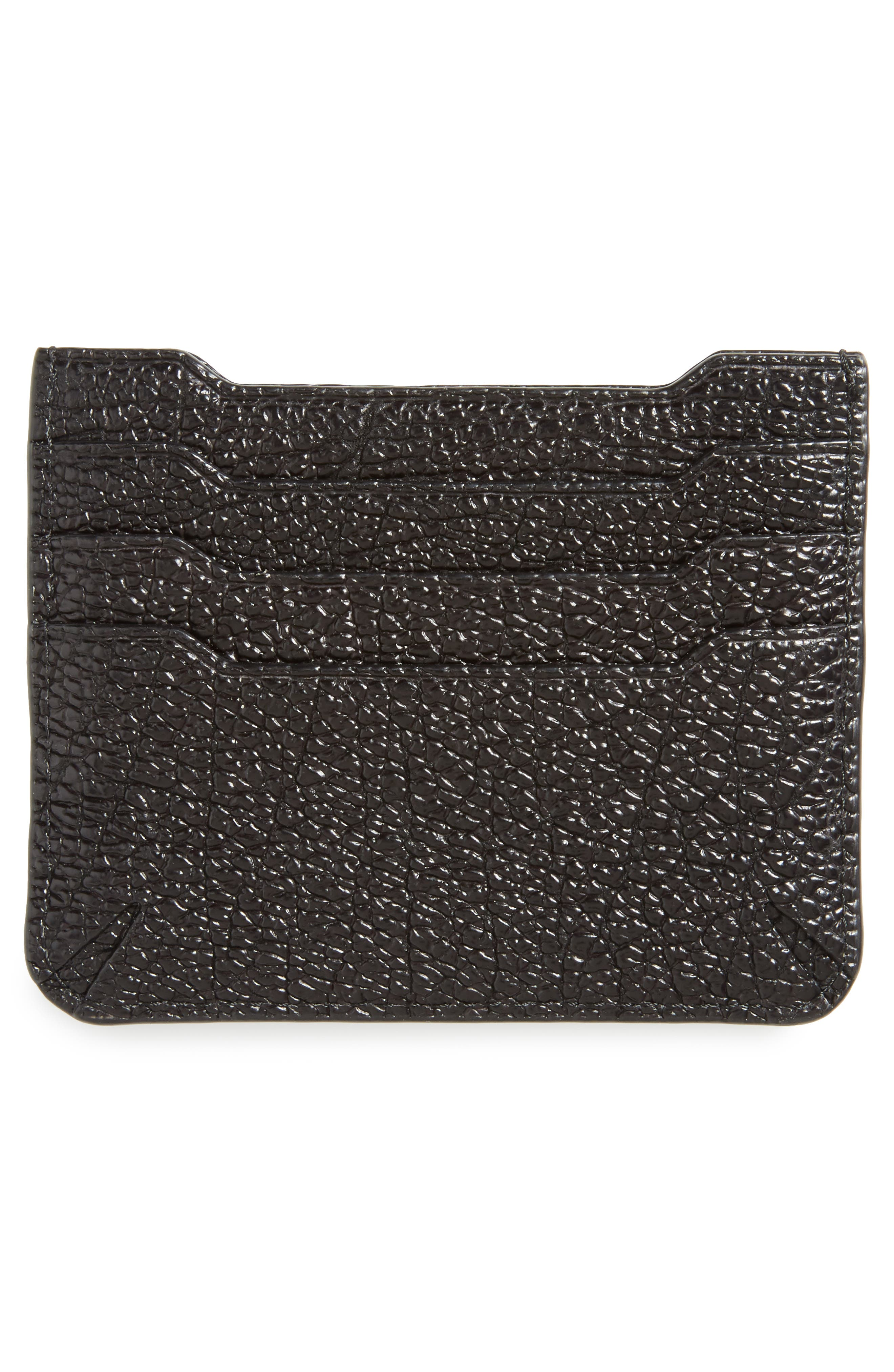 'Crosby' Crackle Leather Card Case,                             Alternate thumbnail 2, color,                             001