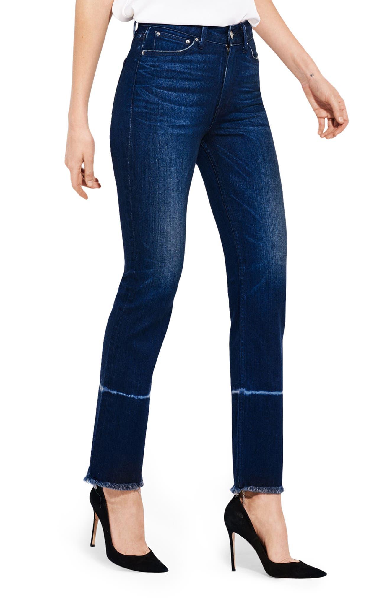 The Aloe High Waist Straight Leg Jeans,                         Main,                         color, 399