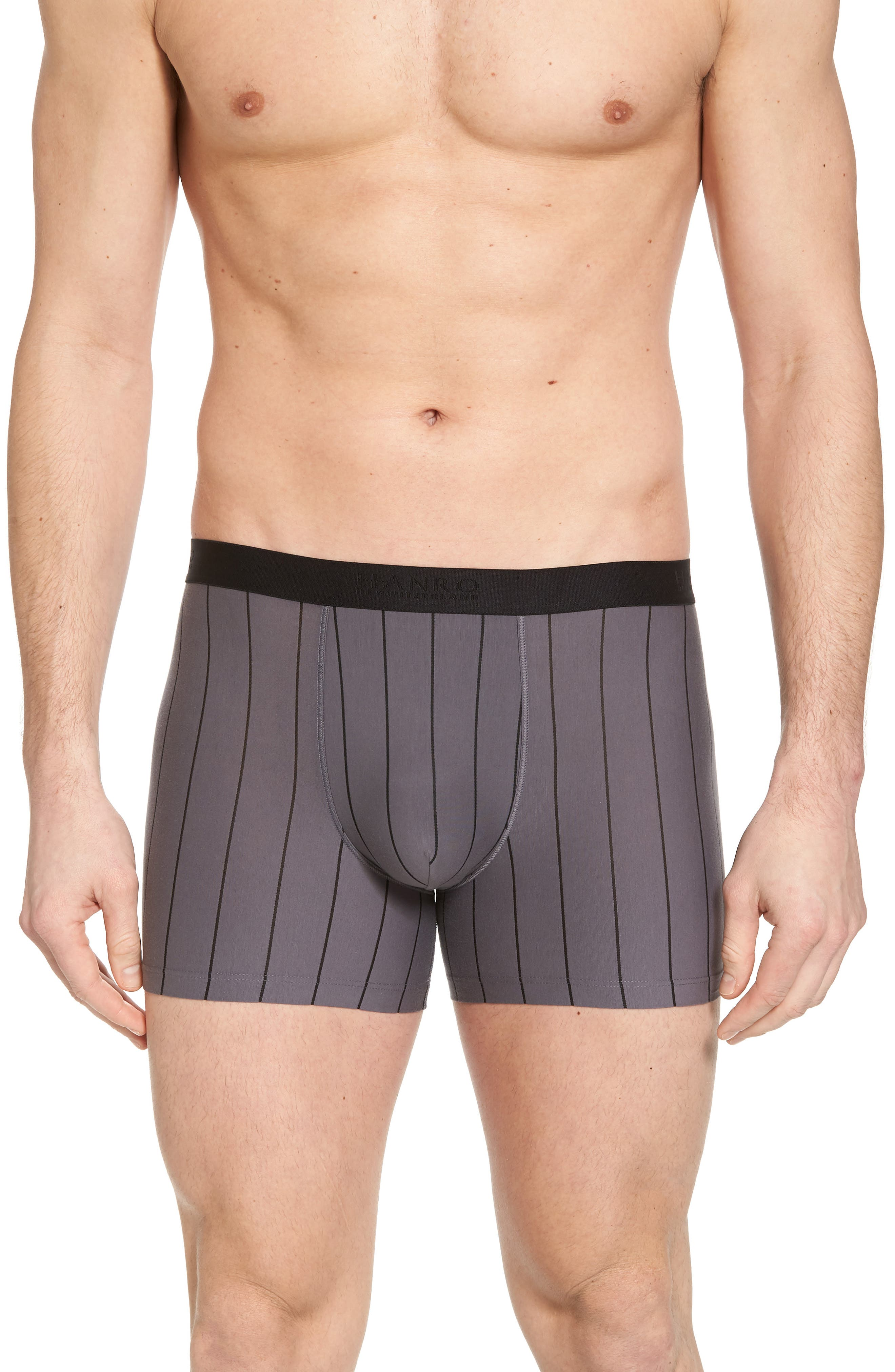 Shadow Cotton Blend Boxer Briefs,                             Main thumbnail 1, color,                             EBONY