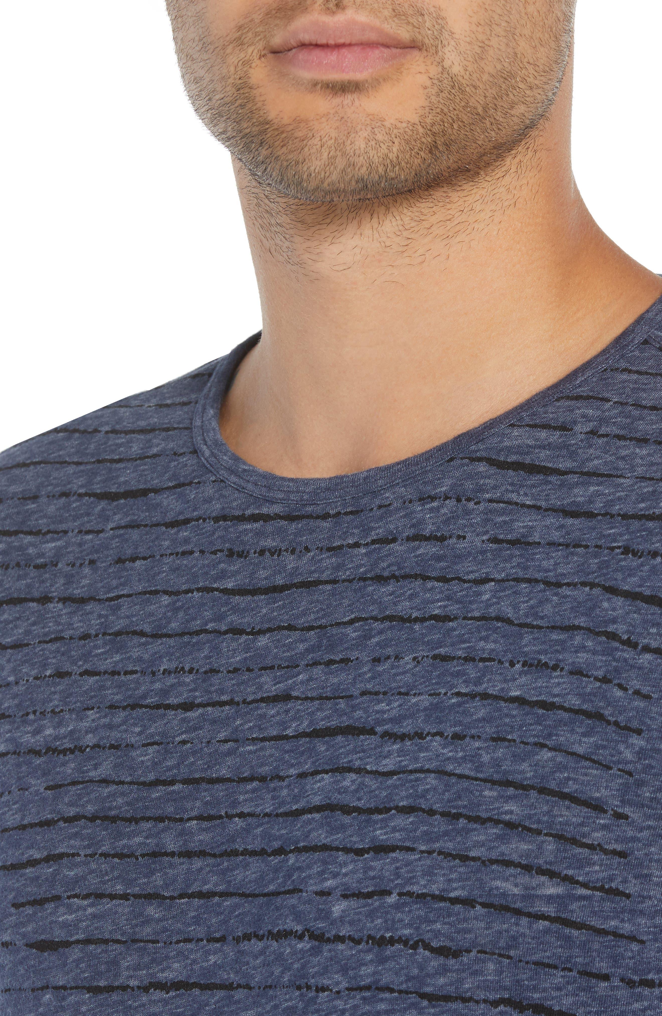 Regular Fit Crewneck Shirt,                             Alternate thumbnail 4, color,                             MIDNIGHT