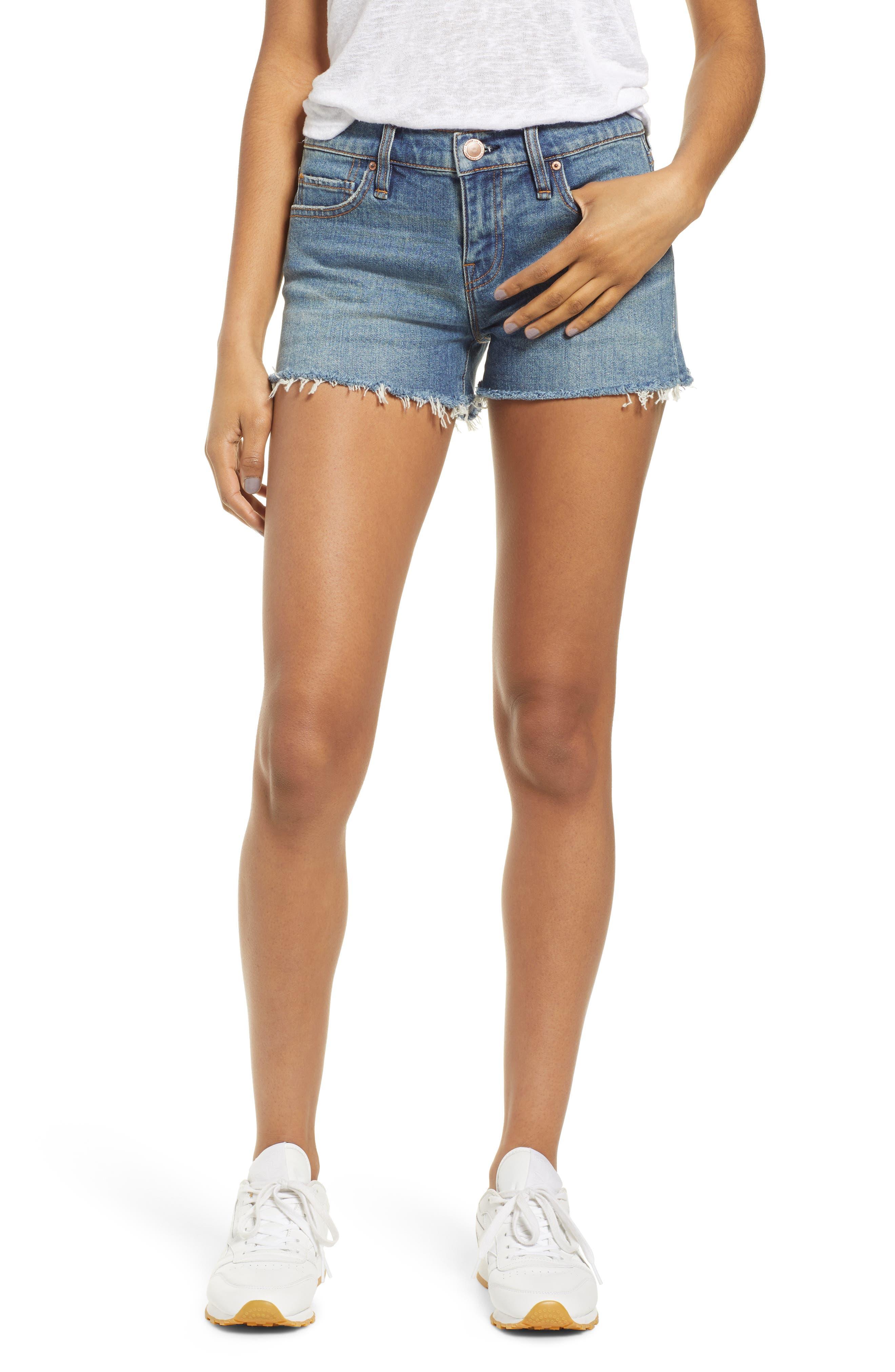 Gemma Cutoff Denim Shorts, Main, color, VROOM