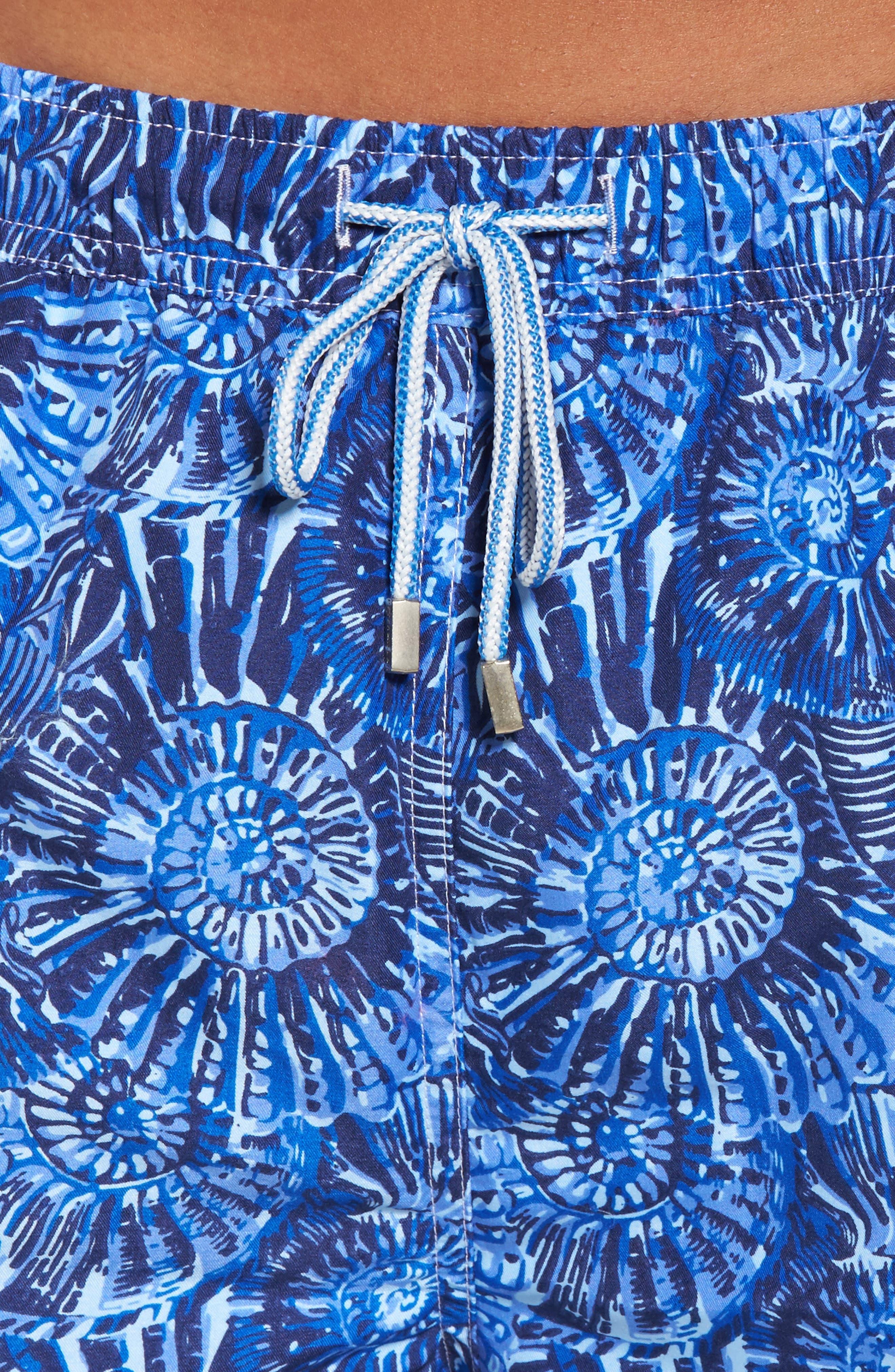 Tabby Shells Swim Trunks,                             Alternate thumbnail 4, color,                             424