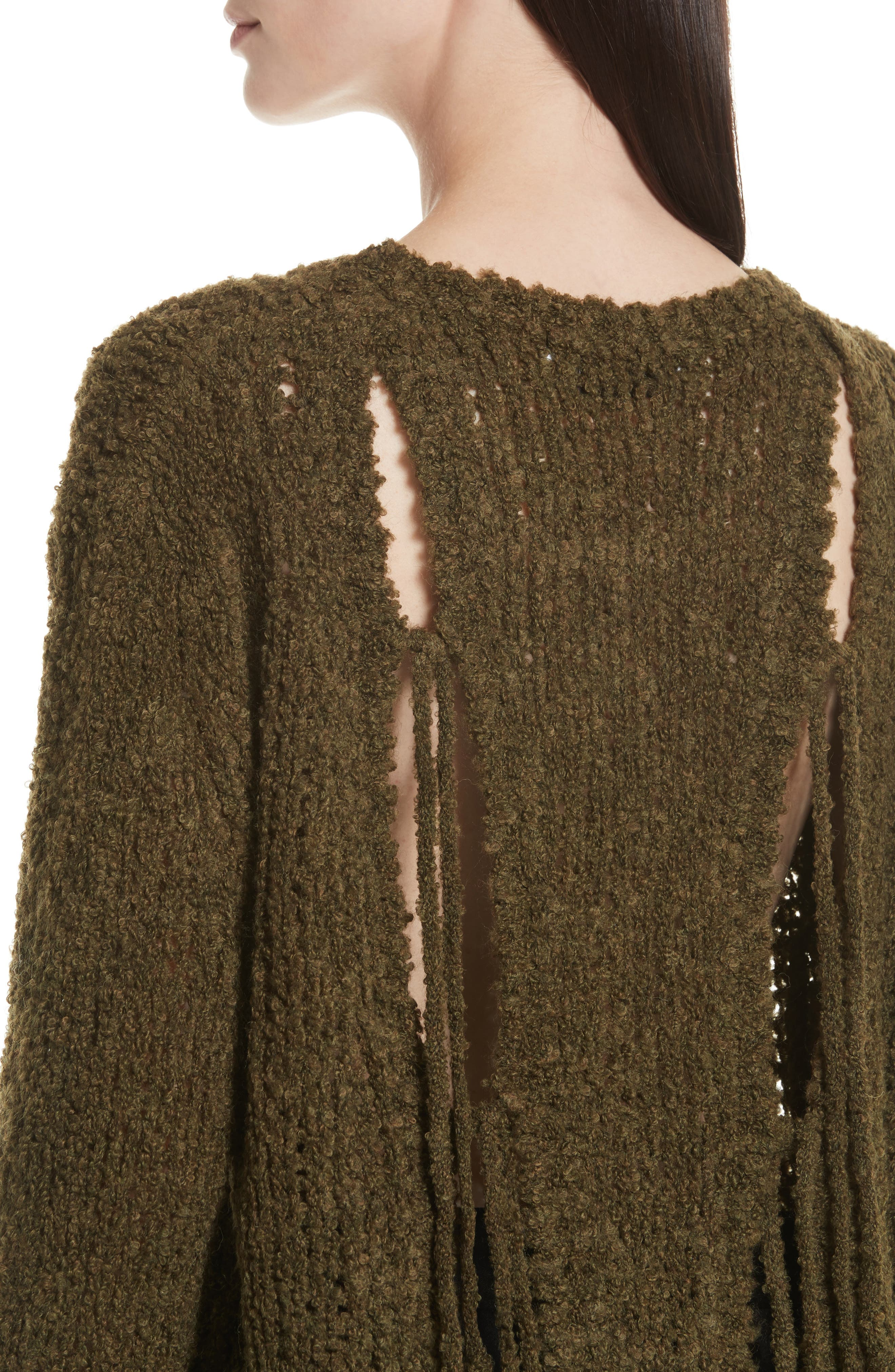 Cresent Cutout Sweater,                             Alternate thumbnail 4, color,                             300