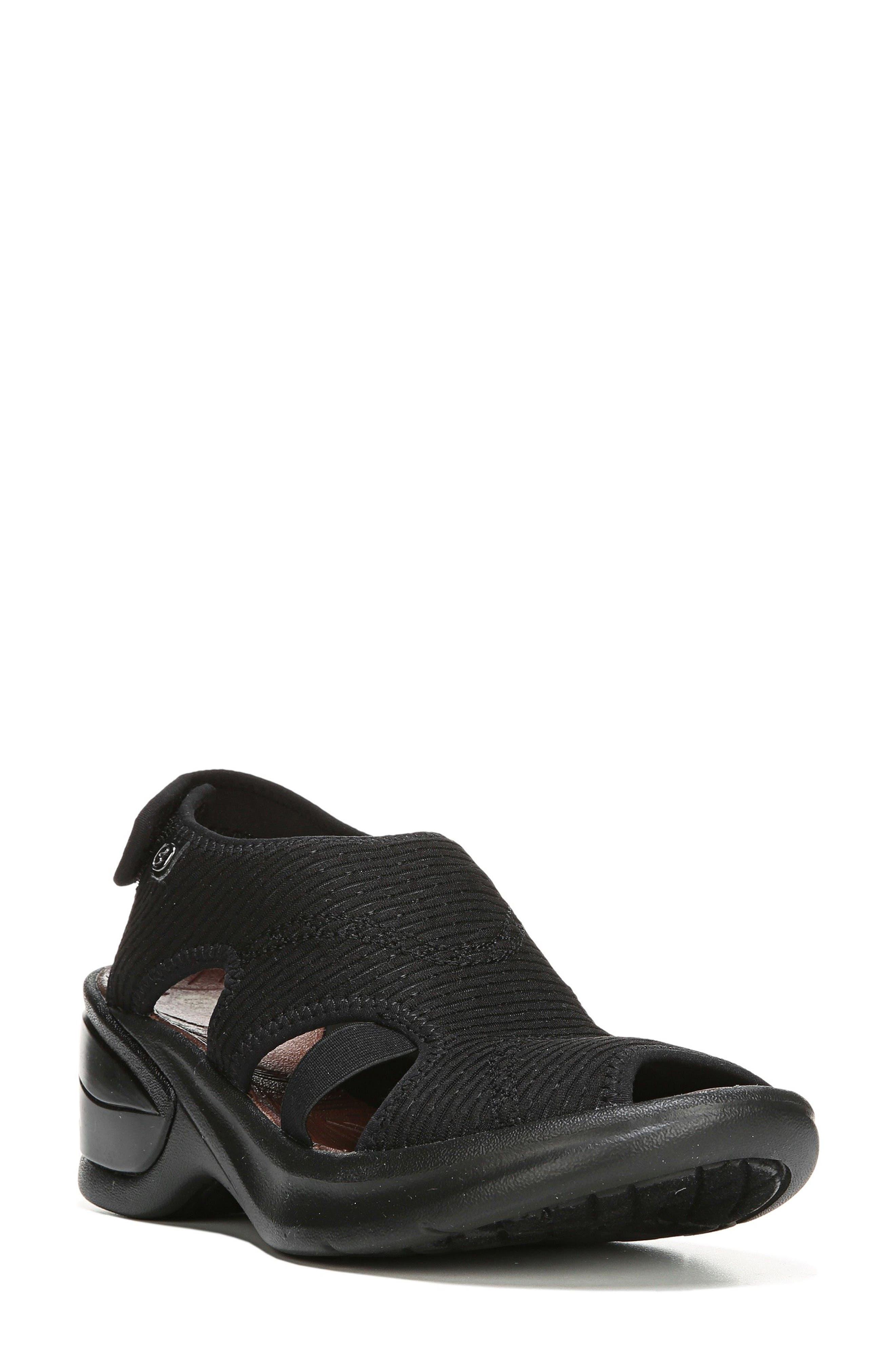 Kiss Sandal,                         Main,                         color, BLACK FABRIC