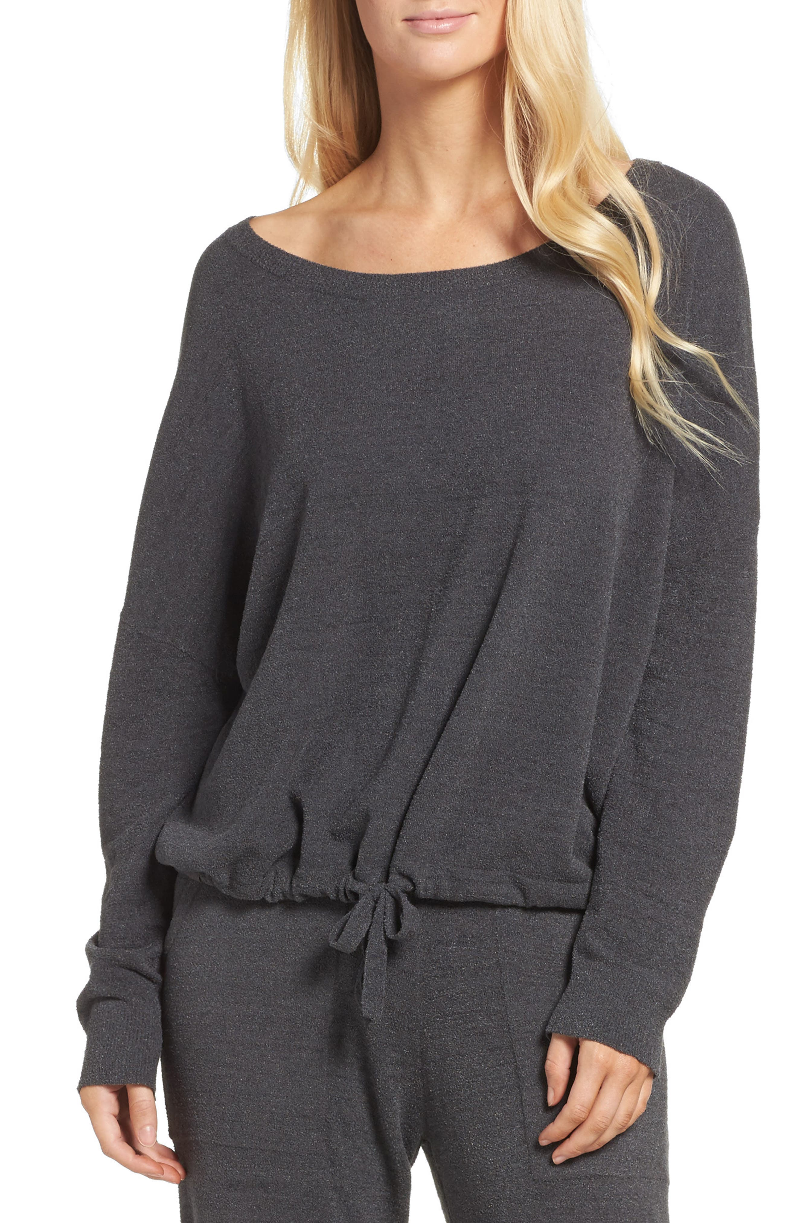 Cozychic Ultra Lite<sup>®</sup> Lounge Pullover,                             Main thumbnail 1, color,                             CARBON
