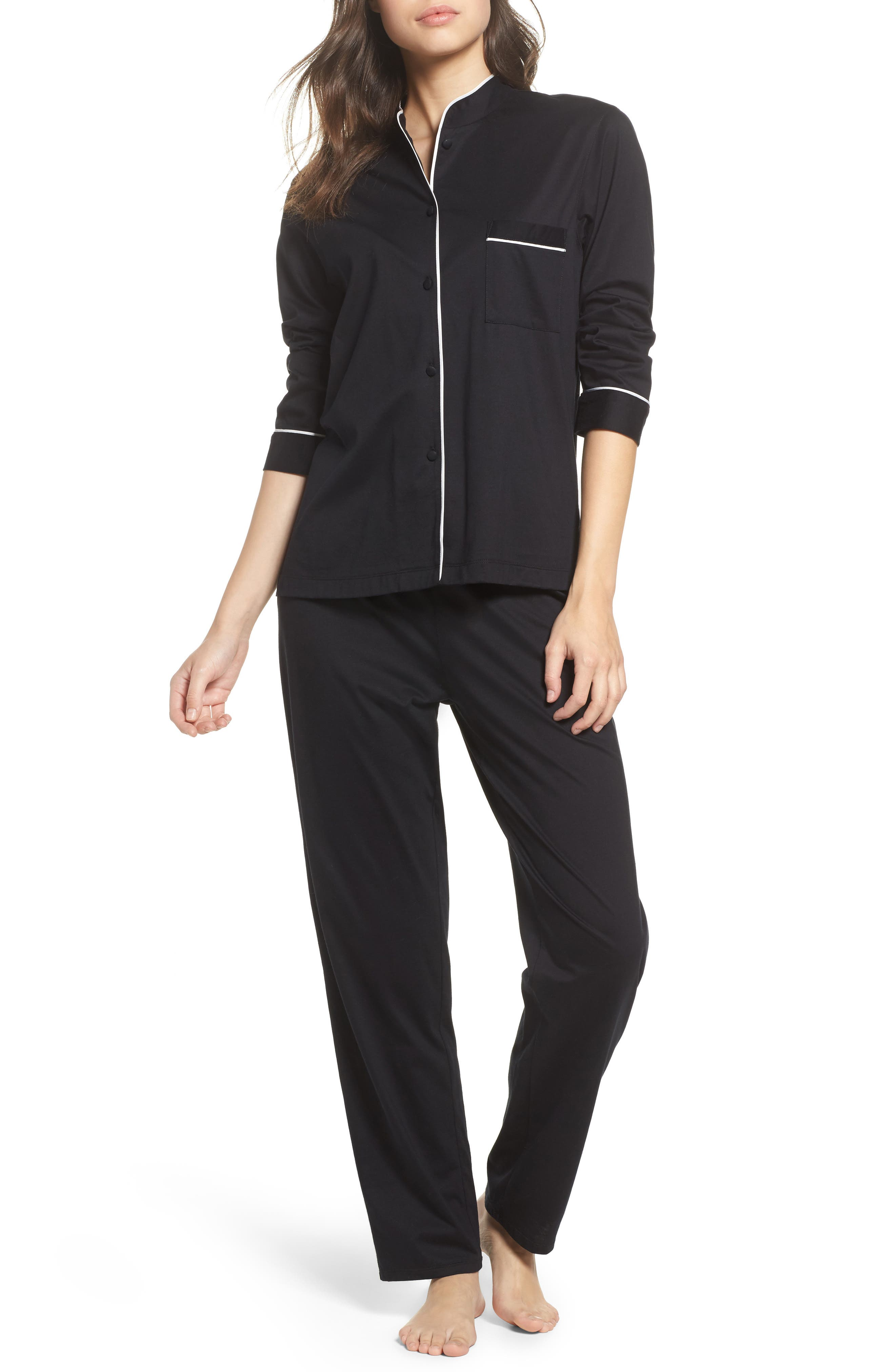 Bliss Supima<sup>®</sup> Cotton Mandarin Pajamas,                         Main,                         color, 001