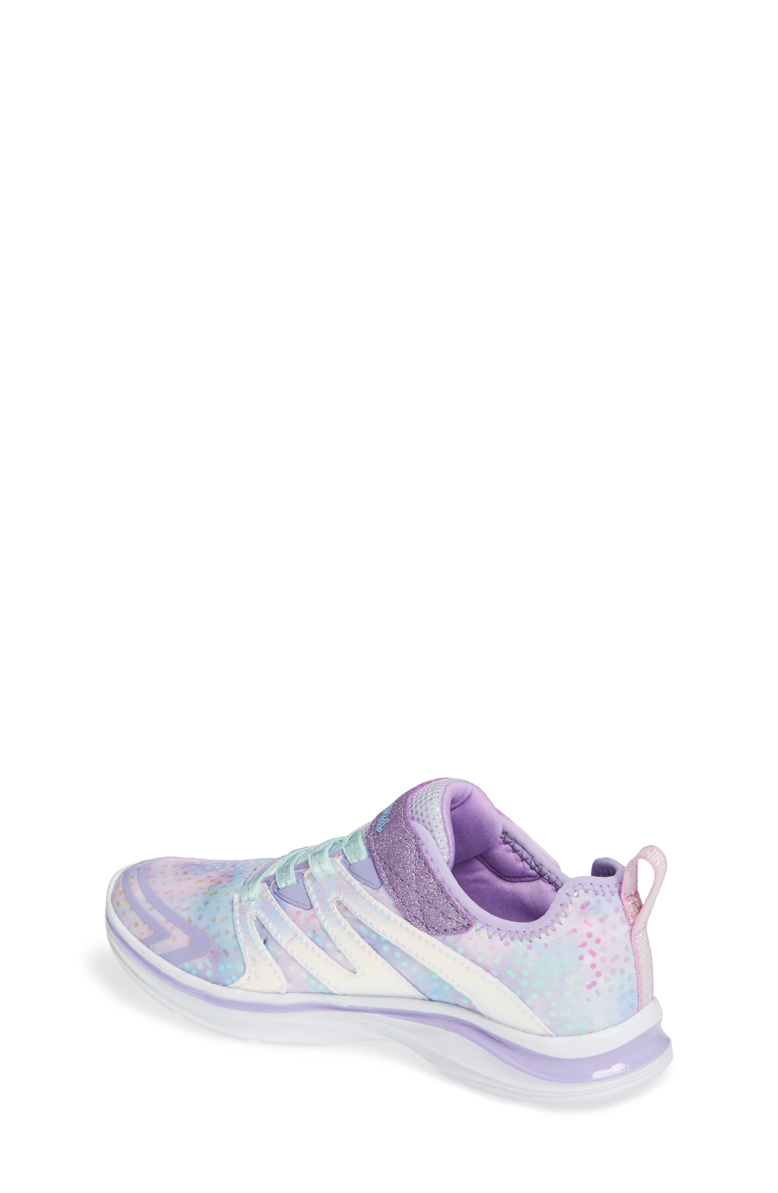 Double Dreams Shimmer Sneaker,                             Alternate thumbnail 2, color,                             LAVENDER/ MULTI