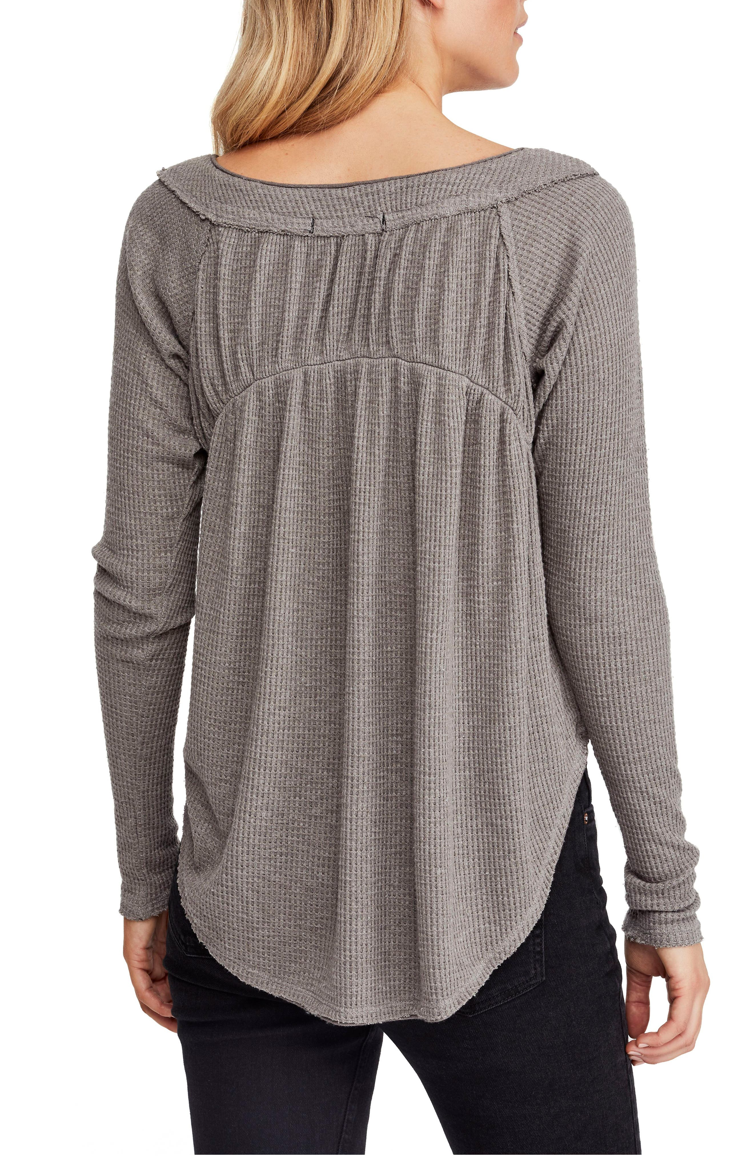 FREE PEOPLE,                             Must Have Henley,                             Alternate thumbnail 2, color,                             GREY