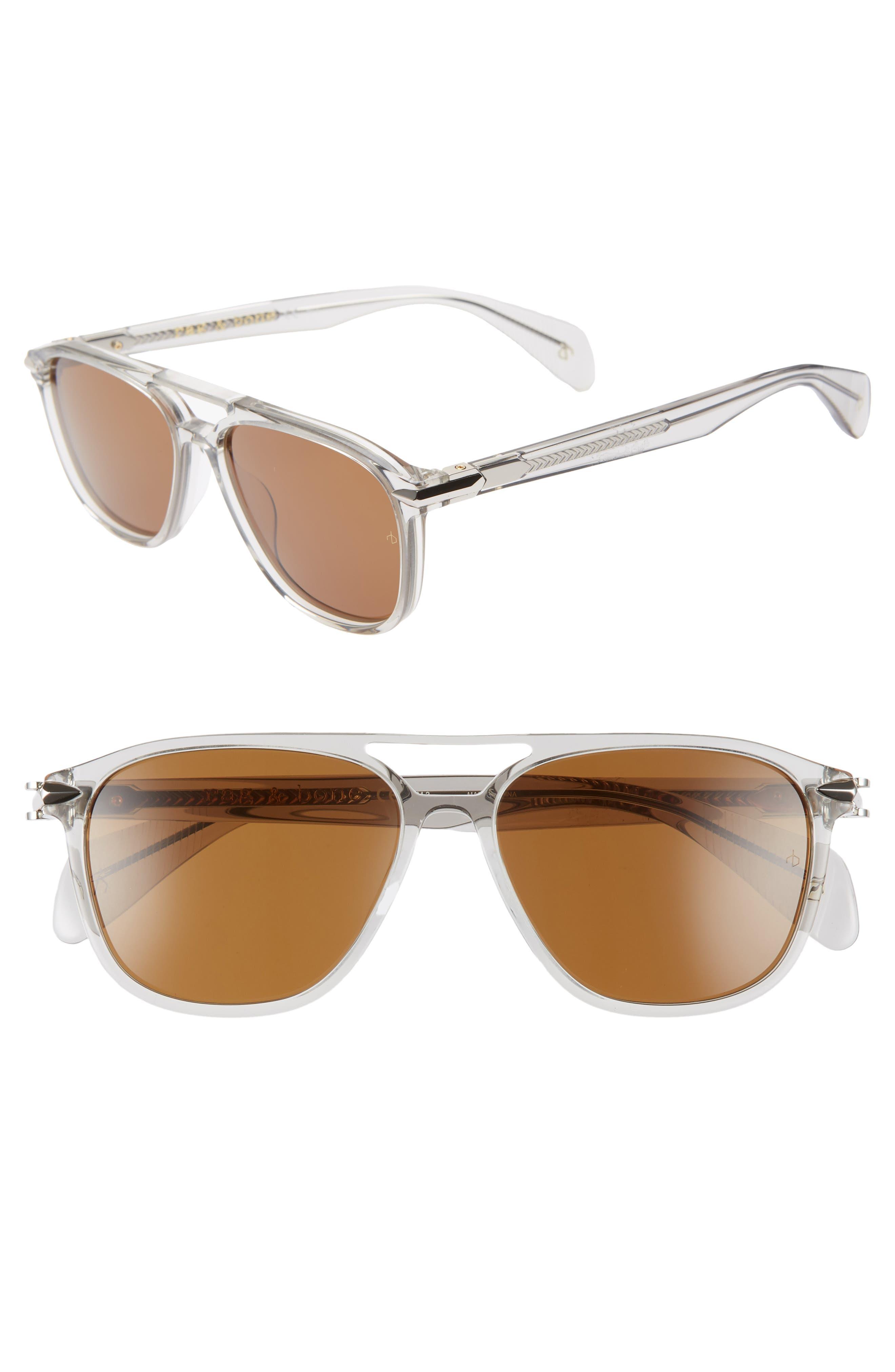 54mm Aviator Sunglasses,                             Main thumbnail 1, color,                             GREY