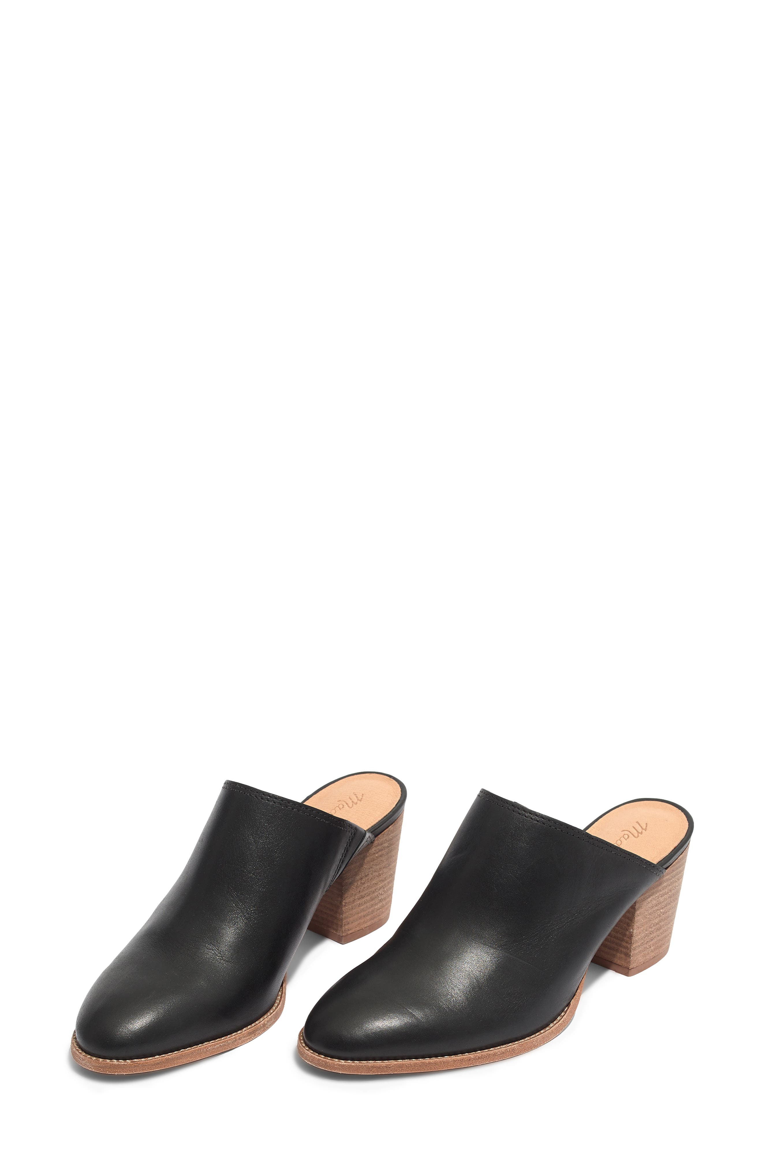 The Harper Mule,                             Alternate thumbnail 7, color,                             BLACK LEATHER