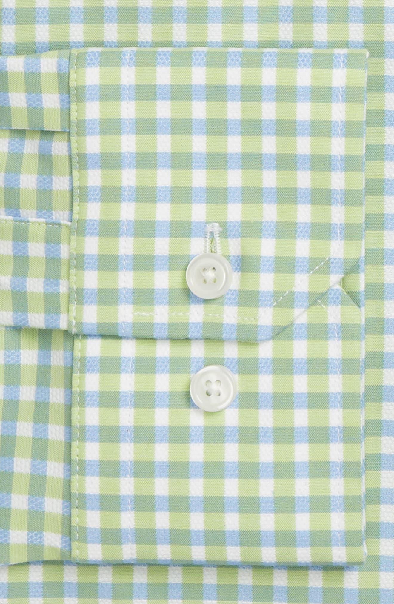 CALIBRATE Trim Fit Non-Iron Check Stretch Dress Shirt, Main, color, 310
